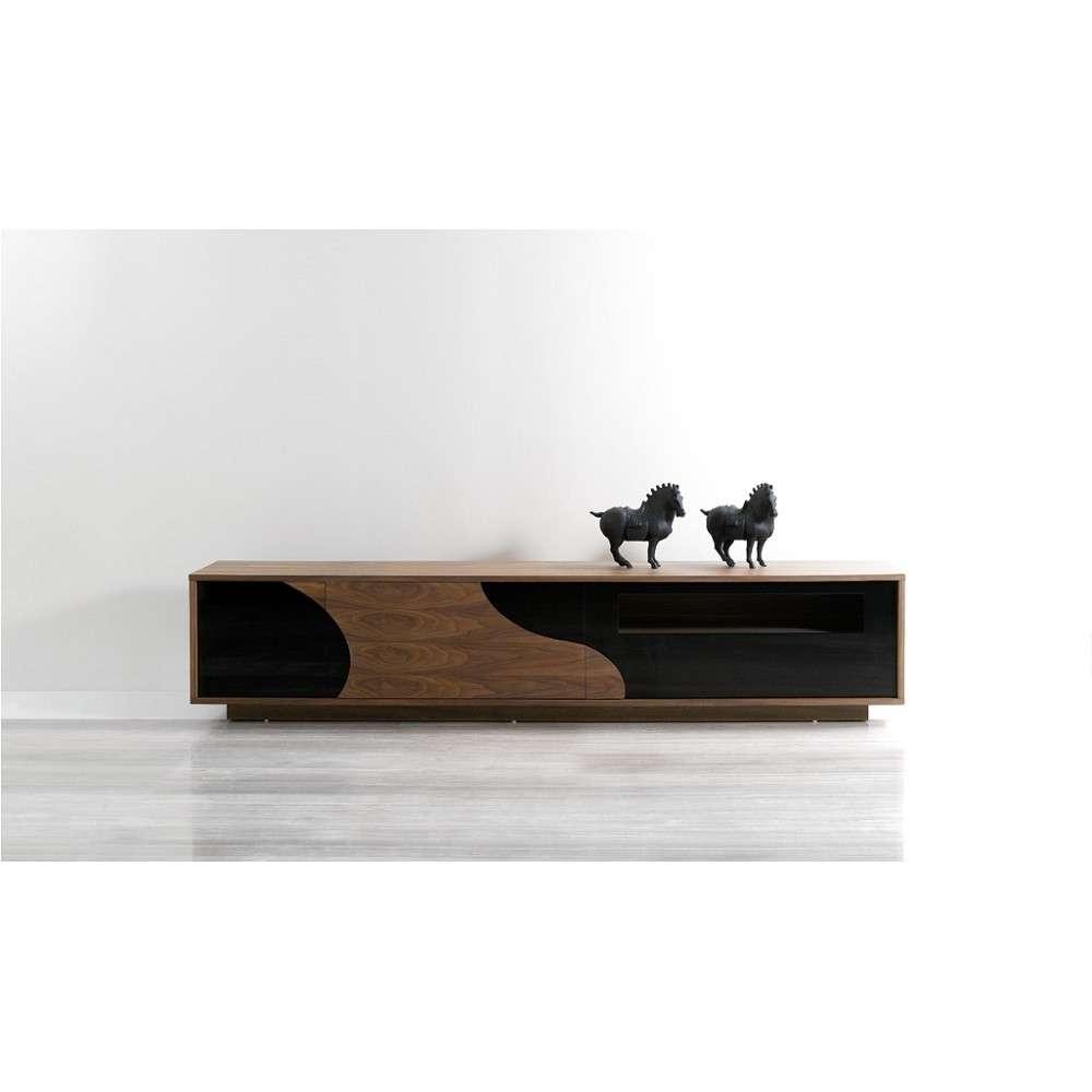 101F Modern Tv Stand In Walnut / Black, J&m Furniture – Modern Inside Modern Black Tv Stands (Gallery 18 of 20)