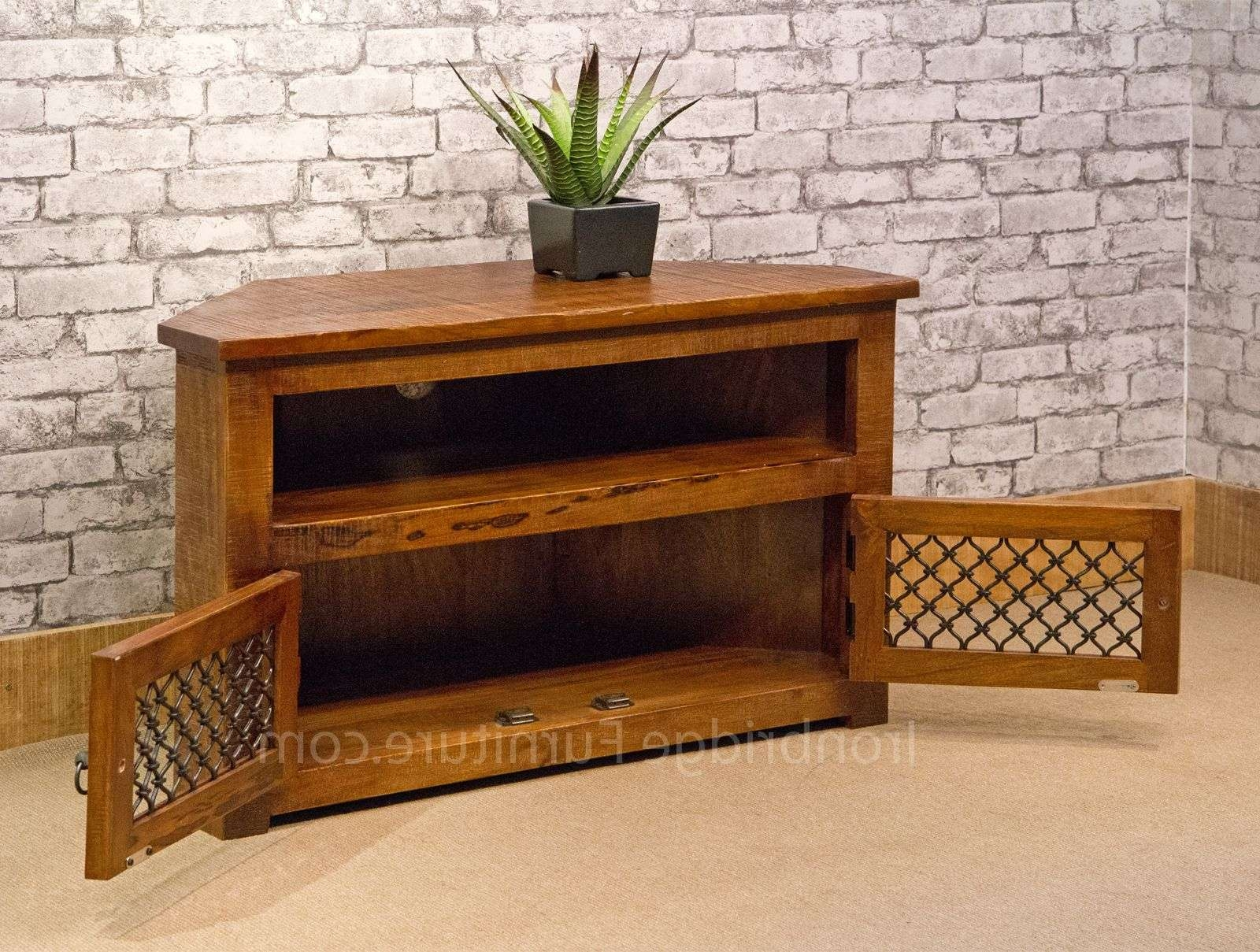 13 Jali Rustic Farm Corner Tv Stand 100Cm For 100Cm Tv Stands (Gallery 3 of 15)