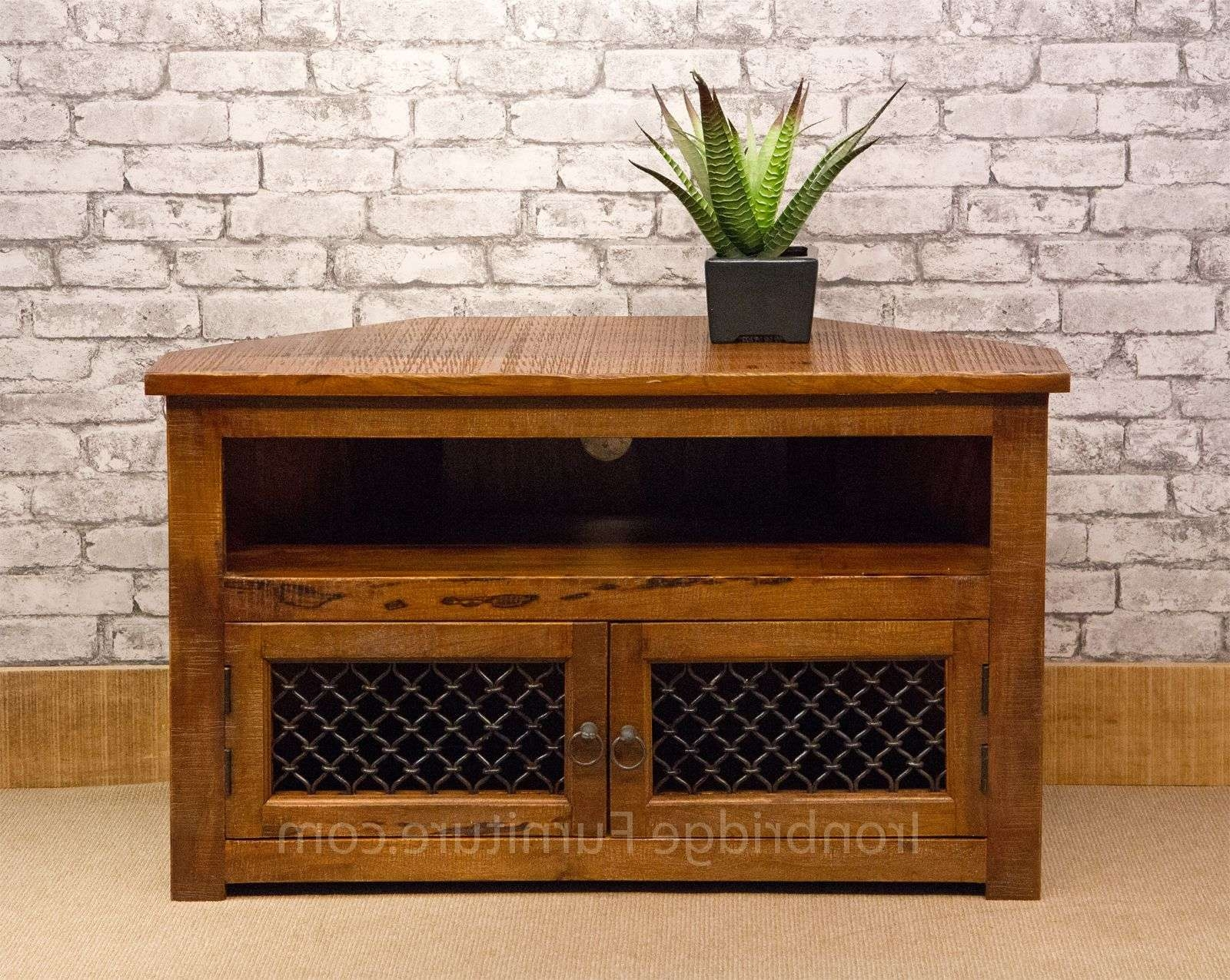 13 Jali Rustic Farm Corner Tv Stand 100Cm For 100Cm Tv Stands (Gallery 1 of 15)