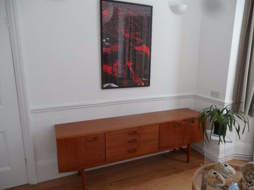 1960's 1970's Avalon Teak Sideboard Tv Stand Unit Storage Cupboard With Regard To Sideboard Tv Stands (View 1 of 20)