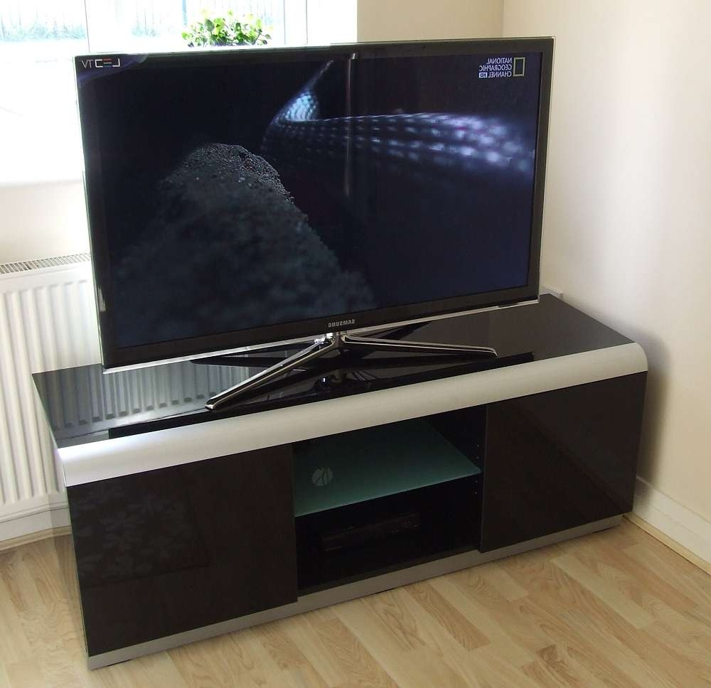 2 Black High Gloss Tv Cabinet | Tv Stands Online Throughout Denver Tv Stands (View 1 of 15)