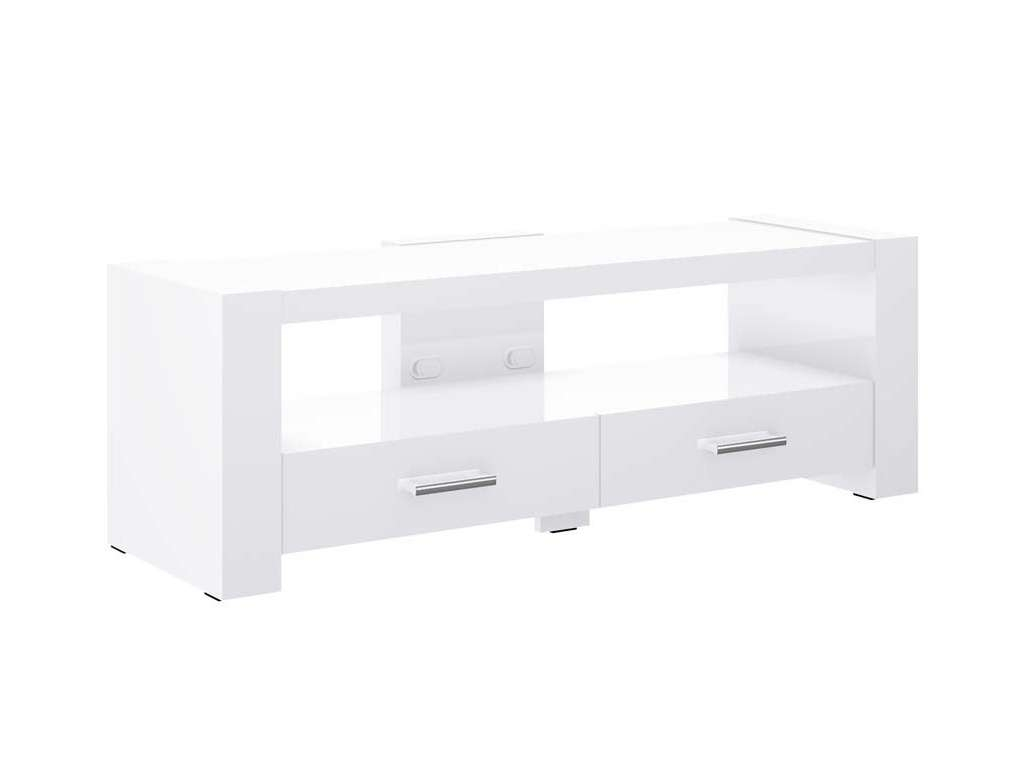 2 White Tv Stand Throughout White Gloss Tv Stands With Drawers (View 1 of 15)