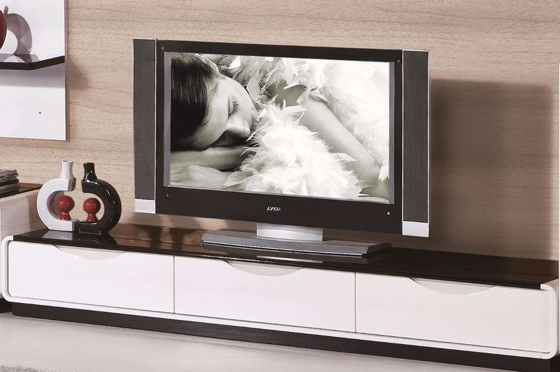 2016 Modern White And Black Tv Stand Regarding White And Black Tv Stands (View 4 of 15)