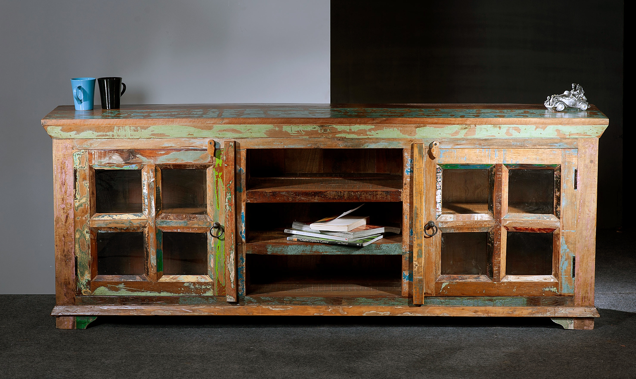 35 Supurb Reclaimed Wood Tv Stands & Media Consoles Within Wood Tv Stands With Glass (View 7 of 15)