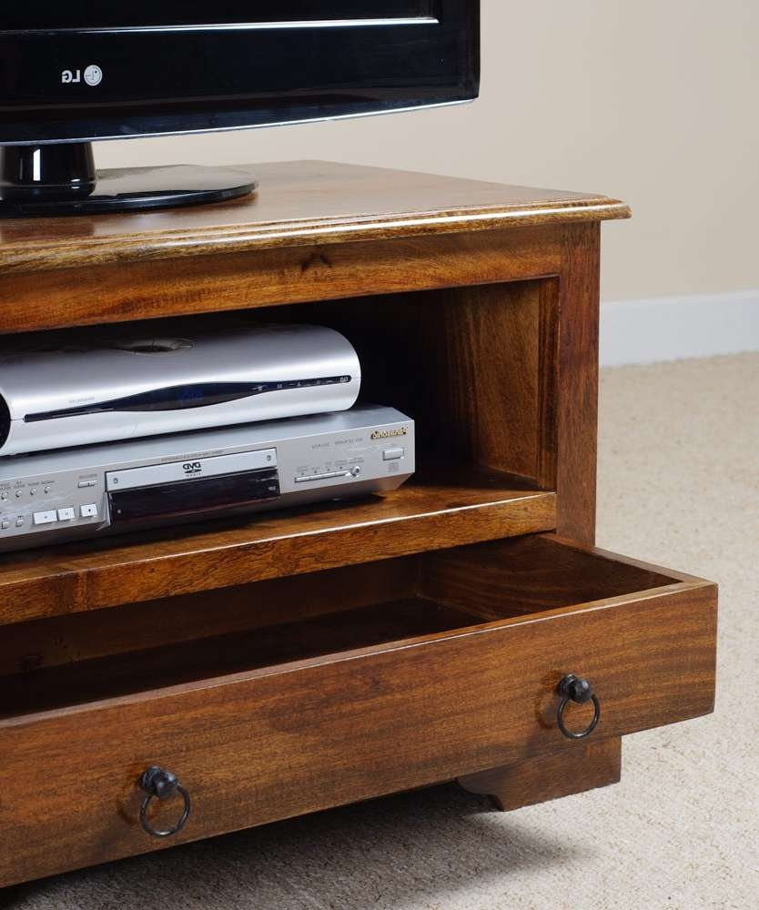 """42"""" Tv Cabinet   Indian Mango Wood Stand   Media Components   Casa Within Mango Tv Stands (View 13 of 15)"""