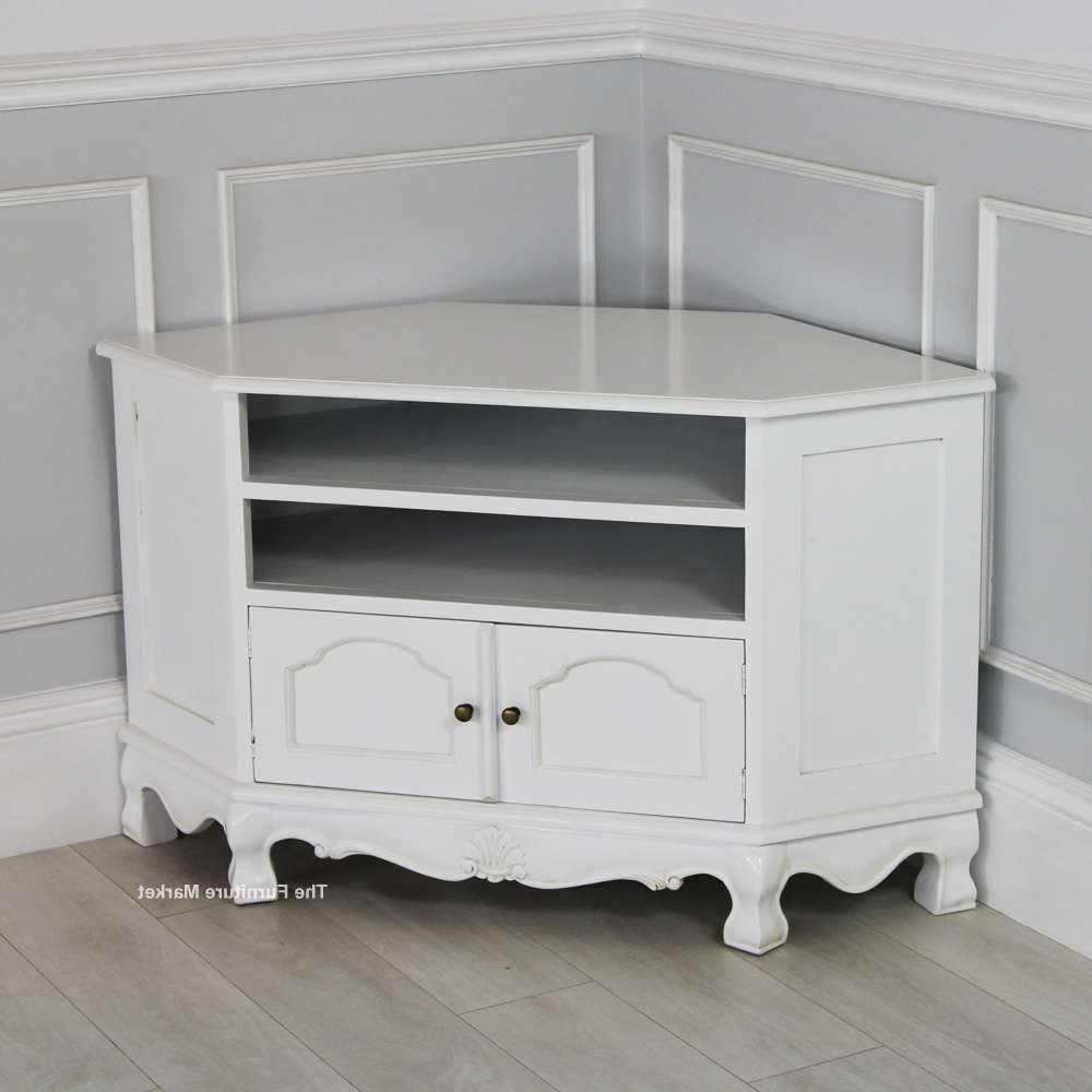49 Stupendous Small White Corner Tv Stand Images Concept Antique For Small White Tv Cabinets (View 1 of 20)