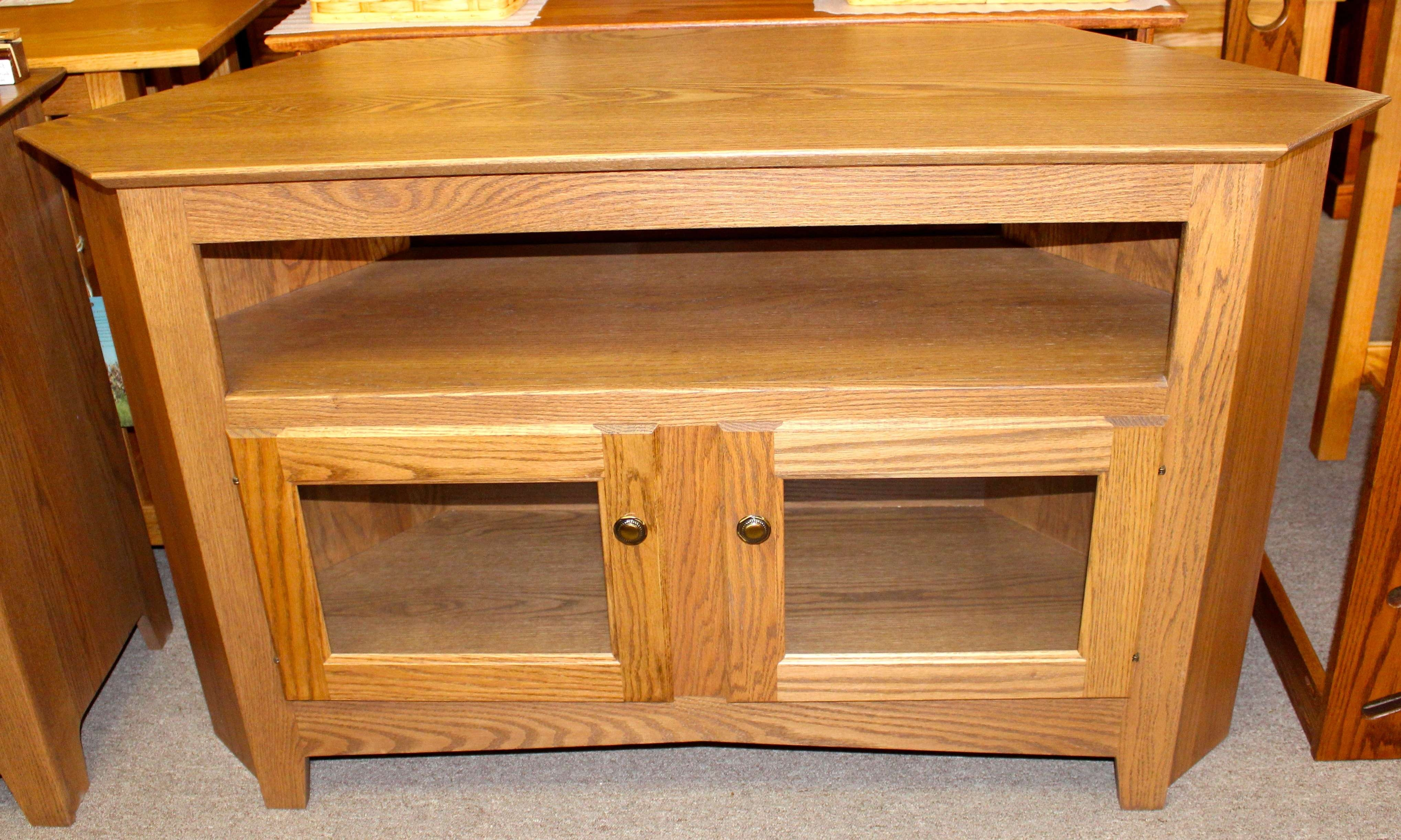 50″ Corner Tv Stand | Amish Traditions Wv Pertaining To Pine Corner Tv Stands (View 9 of 15)