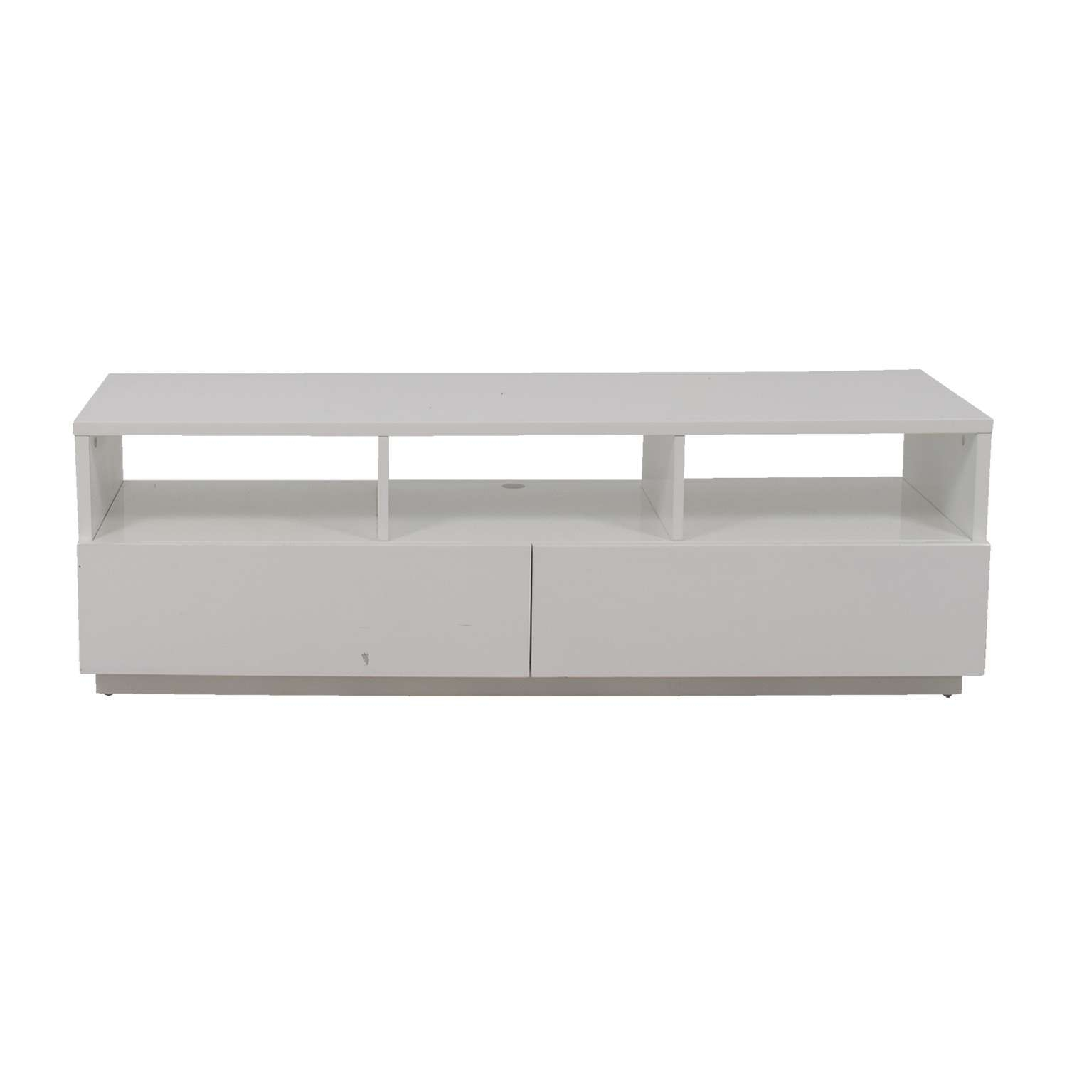 54% Off – Modern White Tv Stand / Storage In White Tv Stands Modern (View 1 of 15)