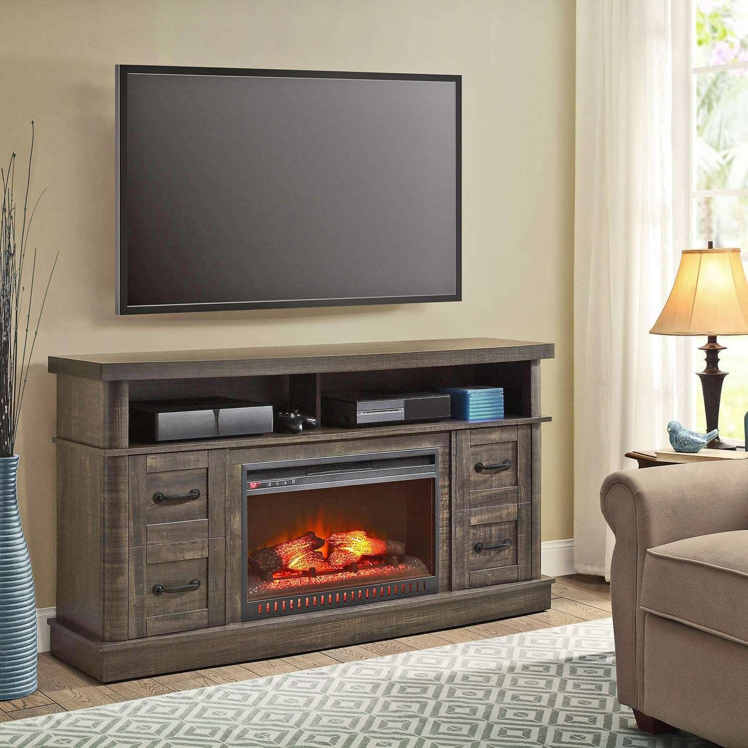 60 Inch Electric Fireplace Tv Stand Regarding Tv Architecture 5 Throughout Fancy Tv Cabinets (View 1 of 20)