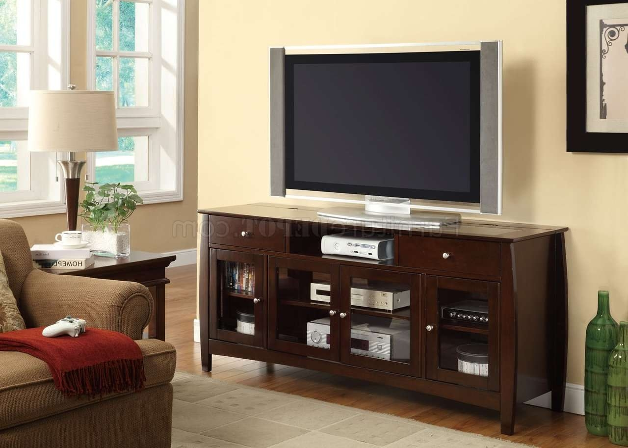 700693 Tv Stand In Dark Oakcoaster Within Dark Walnut Tv Stands (View 1 of 15)