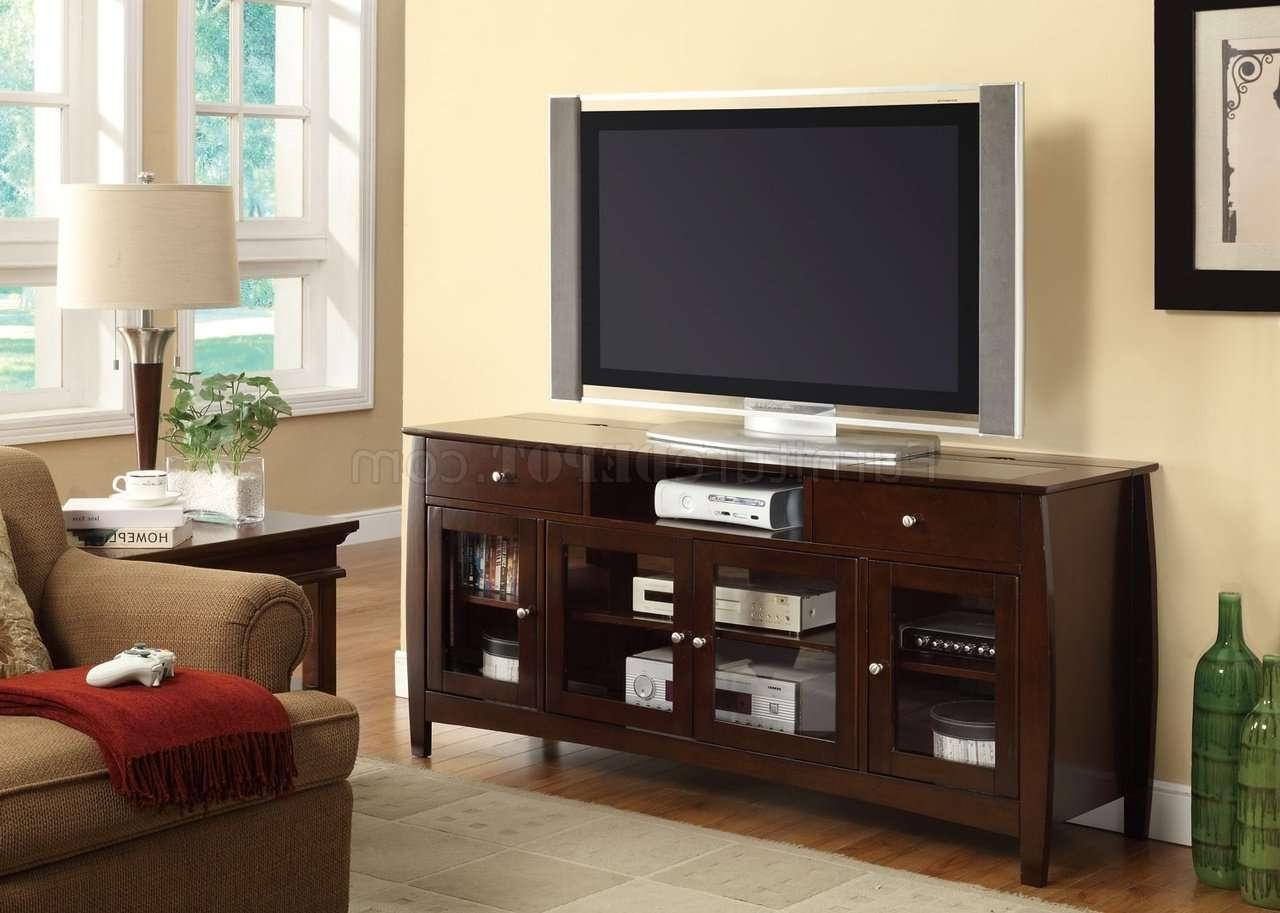 700693 Tv Stand In Dark Oakcoaster Within Dark Walnut Tv Stands (View 11 of 15)