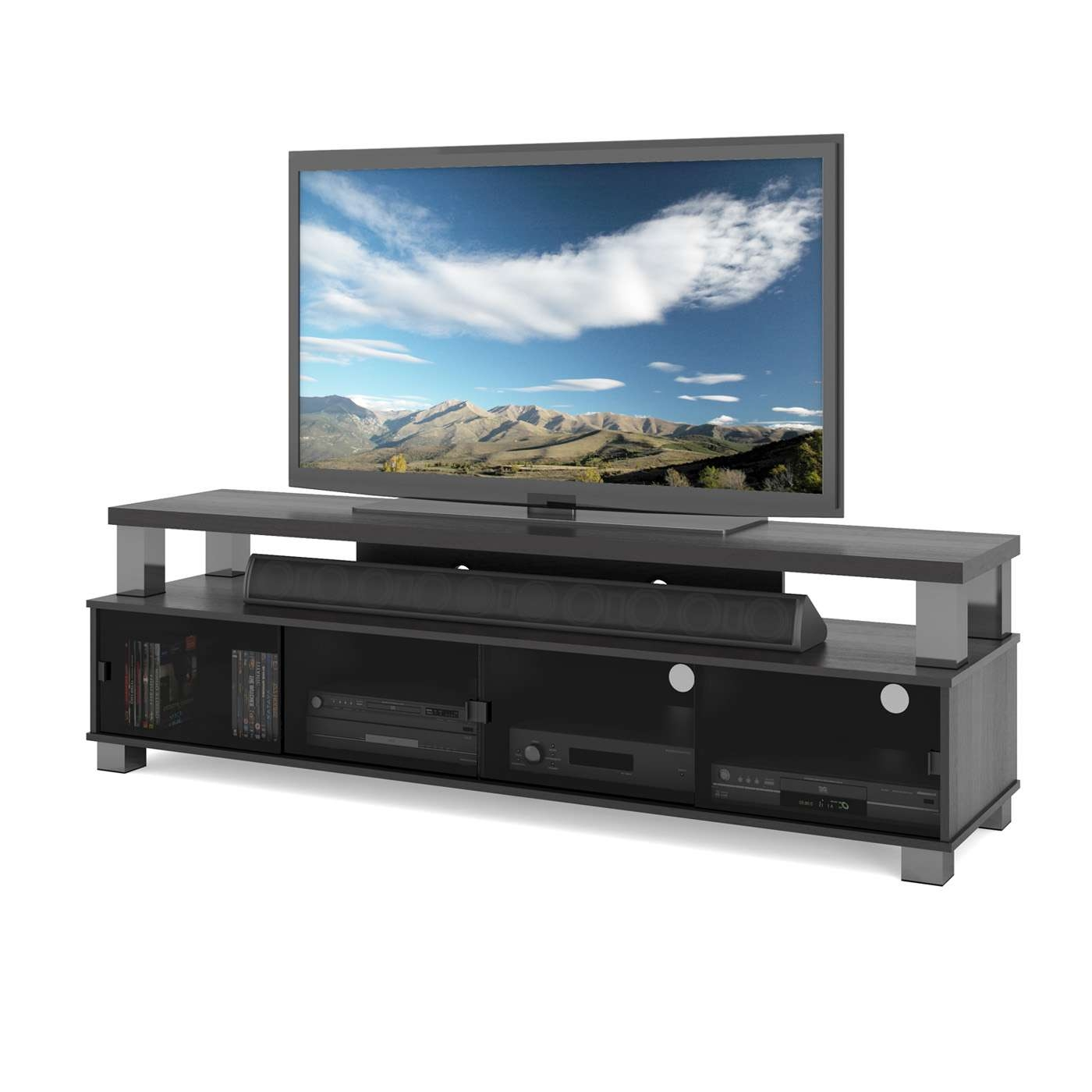 80 Inch Tv Stands | Lowe's Canada For 80 Inch Tv Stands (Gallery 2 of 15)