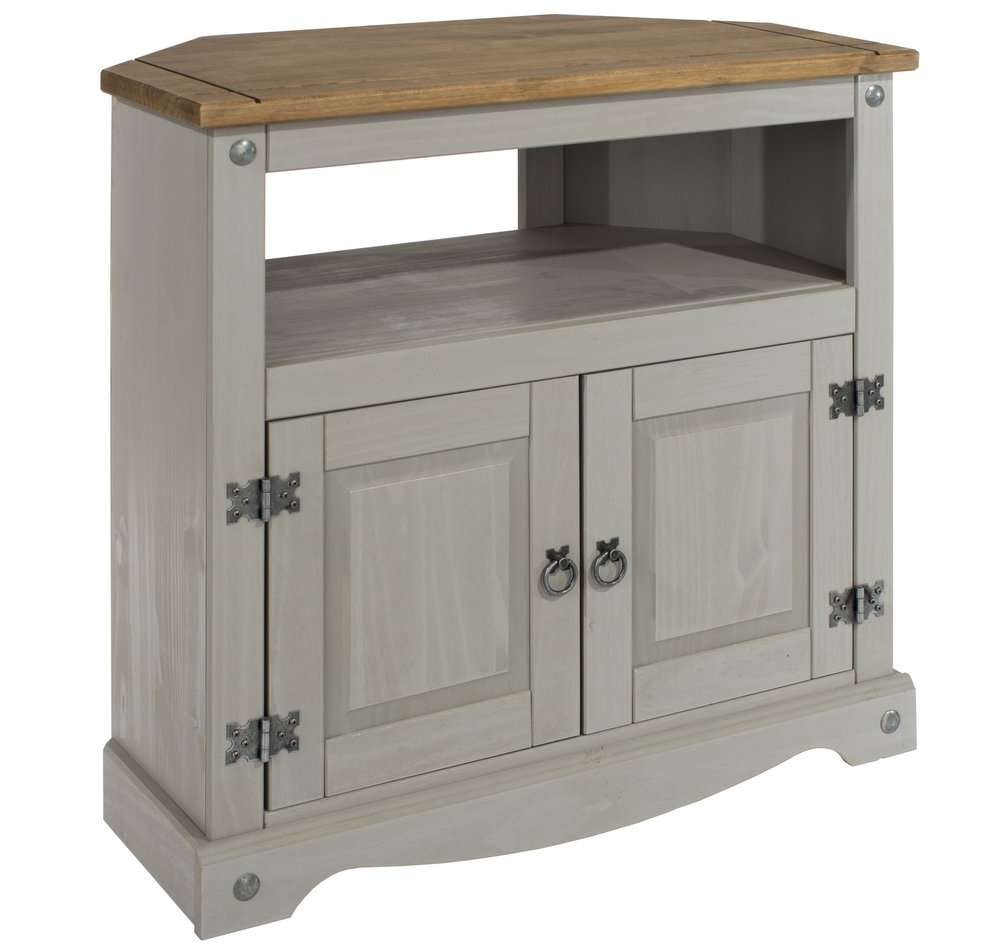 Abdabs Furniture – Corona Grey Washed Corner Tv Cabinet Intended For Grey Corner Tv Stands (View 1 of 15)