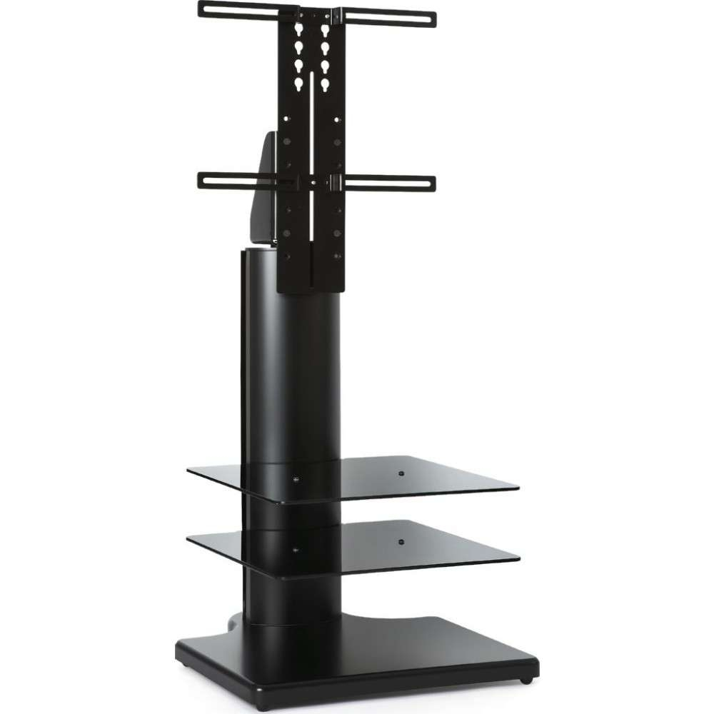 Adjustable Corner Display Black Large Square Tv Stand With Regard To Off The Wall Tv Stands (View 15 of 15)