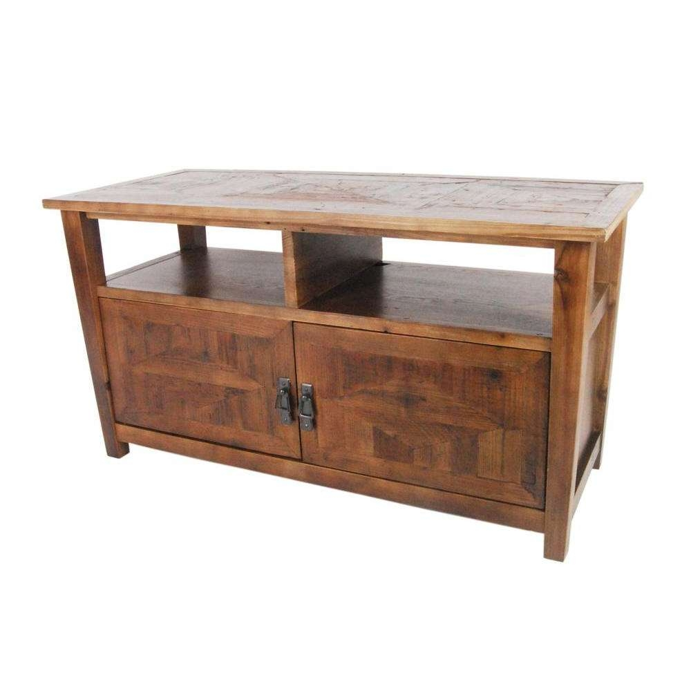 Alaterre Furniture Revive Reclaimed Natural Oak Storage With Hardwood Tv Stands (View 2 of 15)