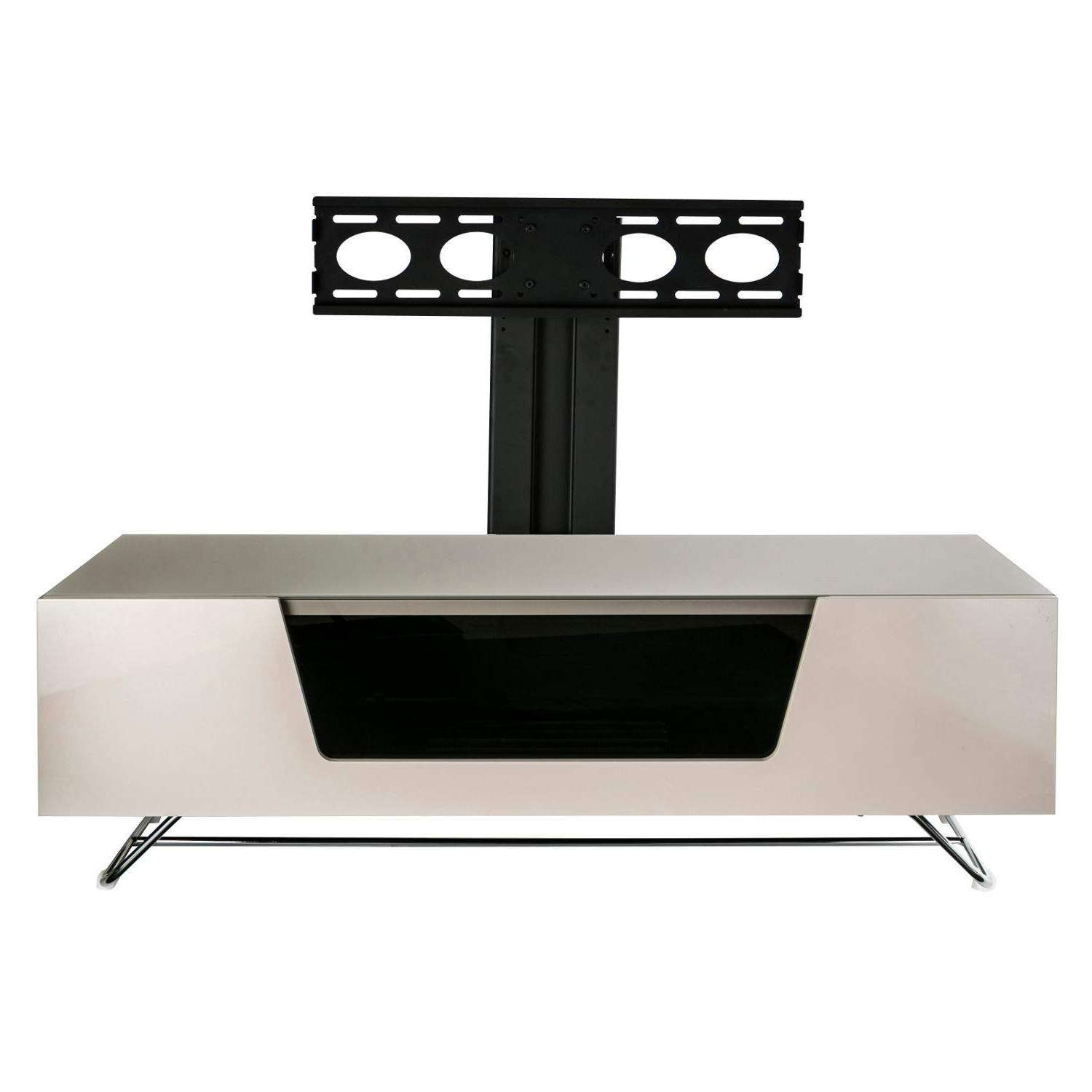 Alphason Chromium 1200 Tv Stand With Bracket – Next Day Delivery Within Tv Stands Cantilever (View 14 of 15)