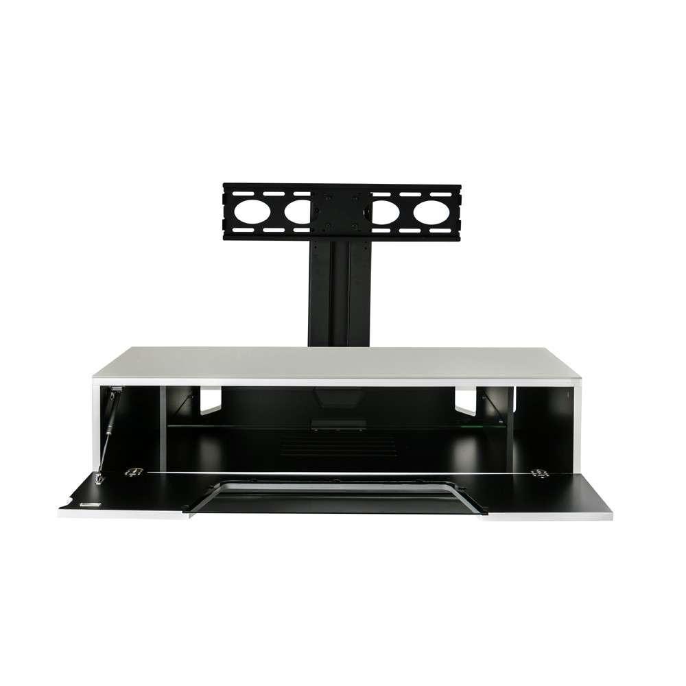 Alphason Chromium 1200 White Cantilever Tv Stand For White Cantilever Tv Stands (View 1 of 20)