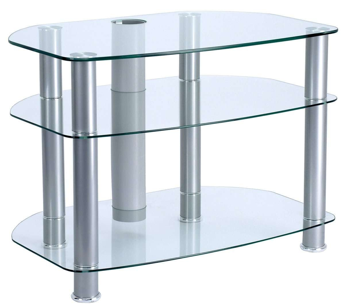 "Alphason Clear Glass Tv Stand For Up To 32"" Tvs Inside Glass Front Tv Stands (View 1 of 20)"