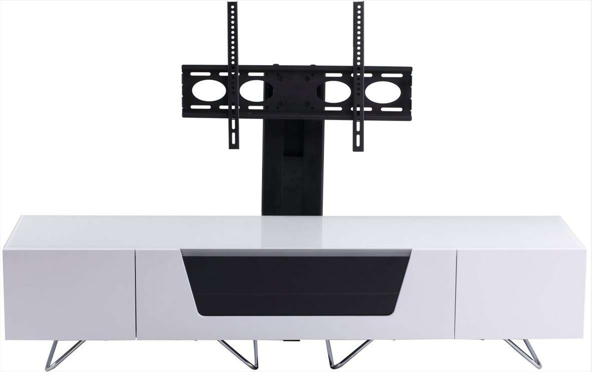 Alphason Cro2 1600Bkt Wht Tv Stands Within White Cantilever Tv Stands (View 6 of 20)