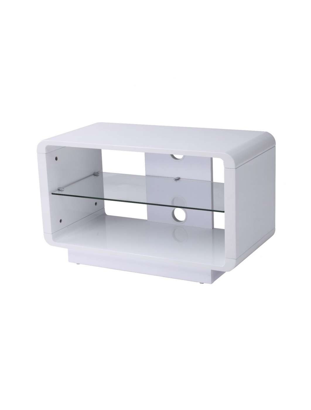 Alphason Luna 800Mm Tv Stand Adlu800 Wht | 121 Tv Mounts With Small White Tv Stands (View 1 of 15)