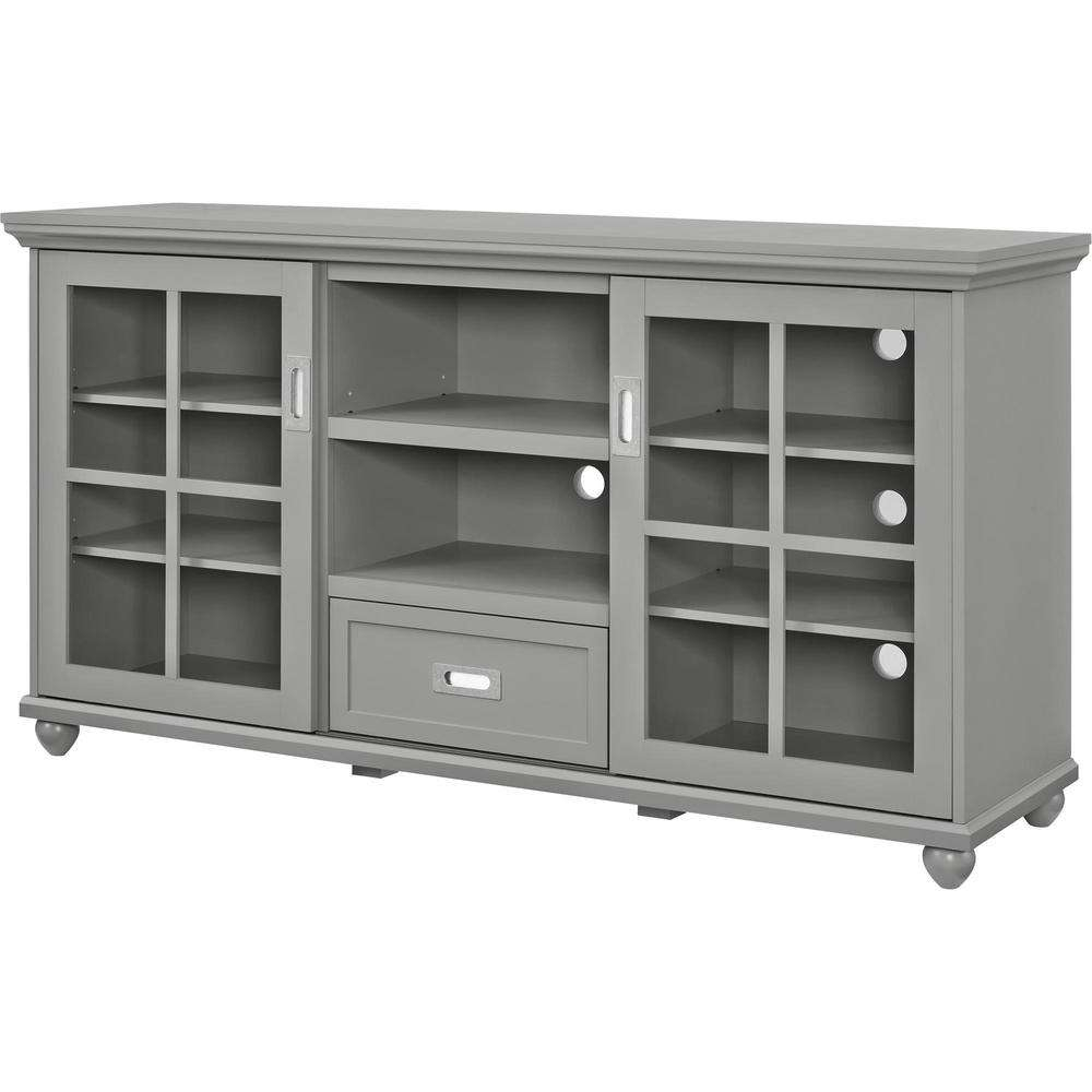 Altra Furniture Aaron Gray Storage Entertainment Center Inside Lane Tv Stands (View 1 of 15)