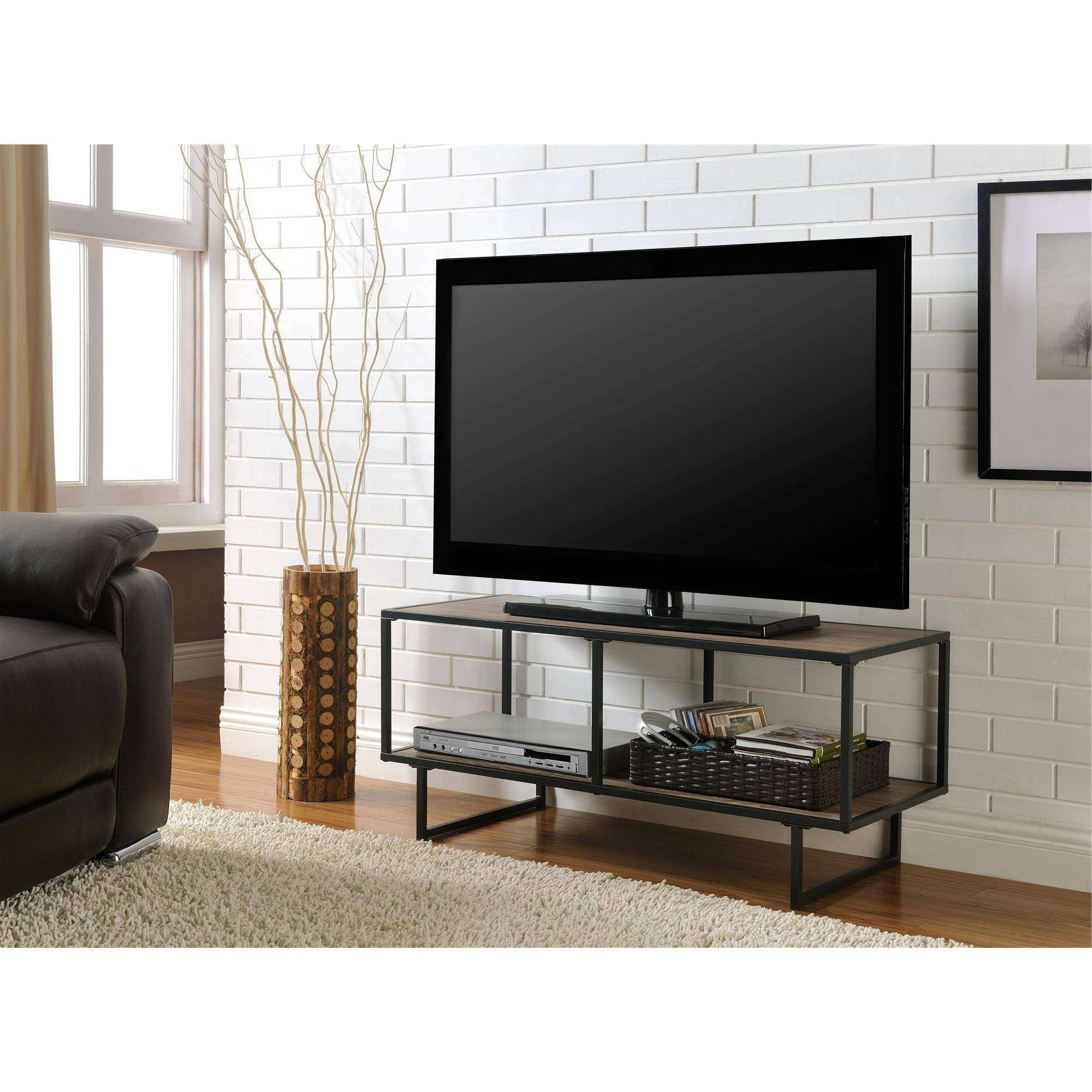Altra Furniture Emmett 1 Shelf Tv Stand Coffee Table In Sonoma Oak Throughout Industrial Metal Tv Stands (View 1 of 15)