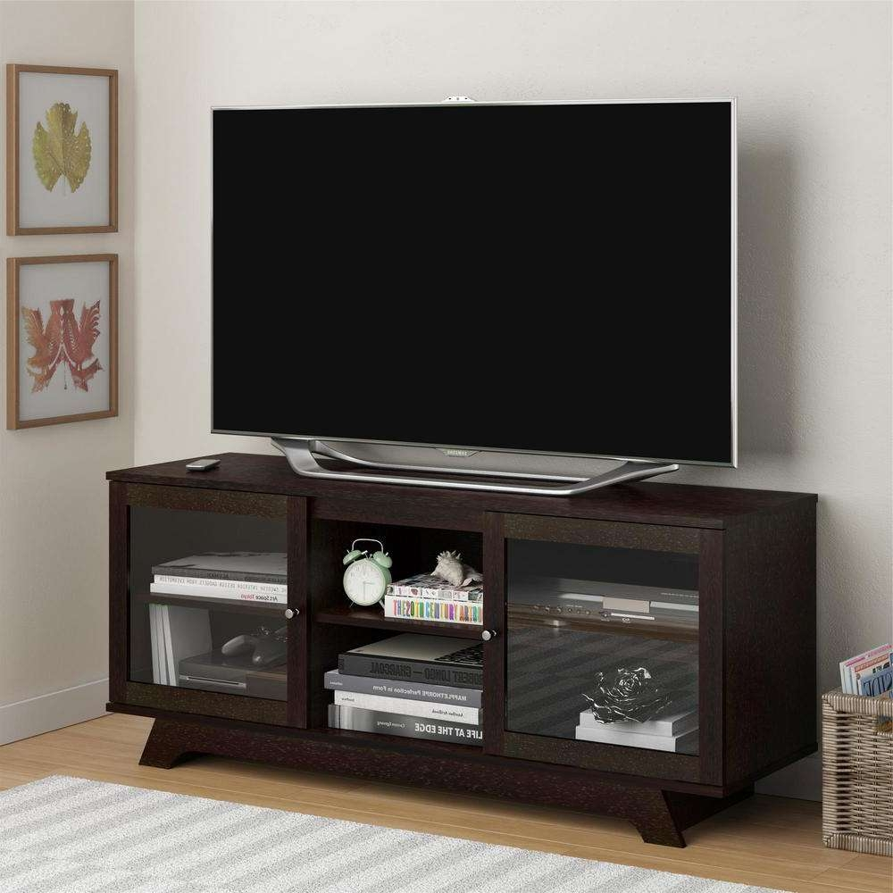 Altra Furniture Englewood Cinnamon Cherry Storage Entertainment For Cherry Wood Tv Stands (View 13 of 15)