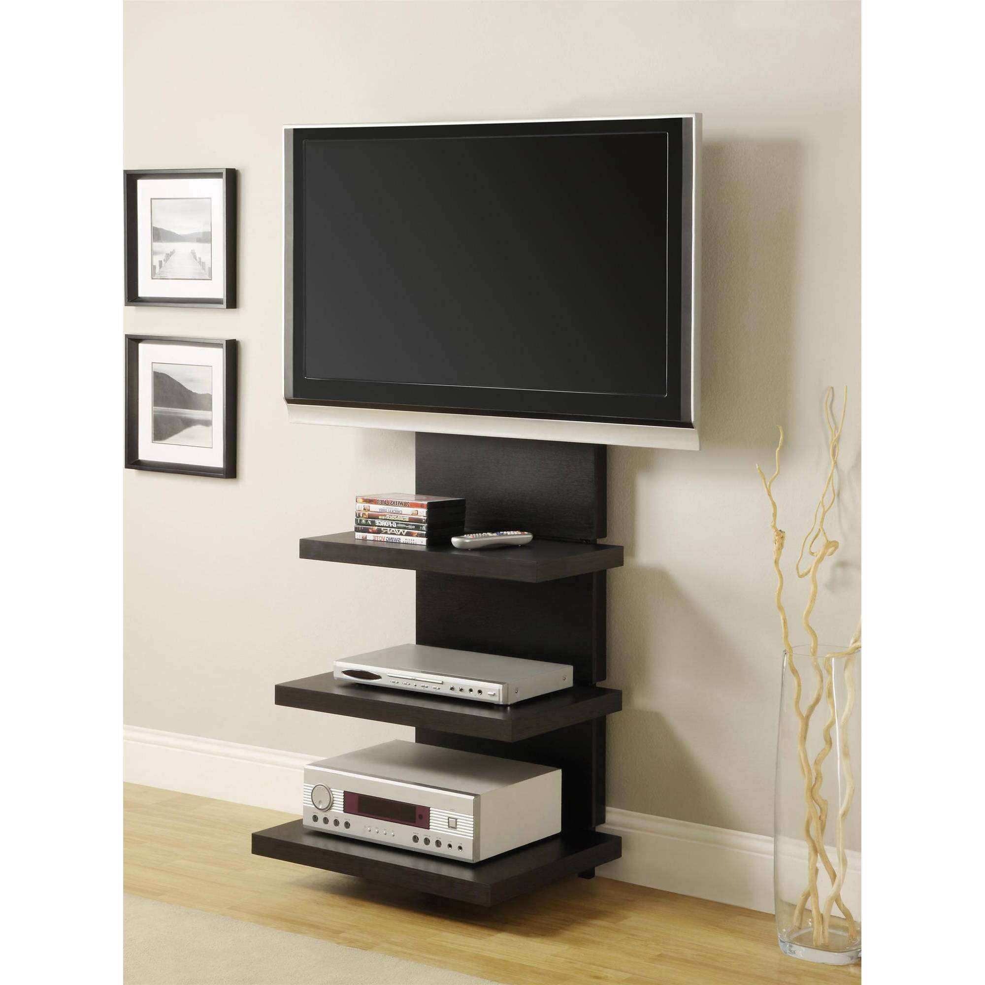 """Altra Wall Mount Tv Stand With 3 Shelves, For Tvs Up To 60""""   Ebay With Tv Stands Swivel Mount (View 2 of 15)"""