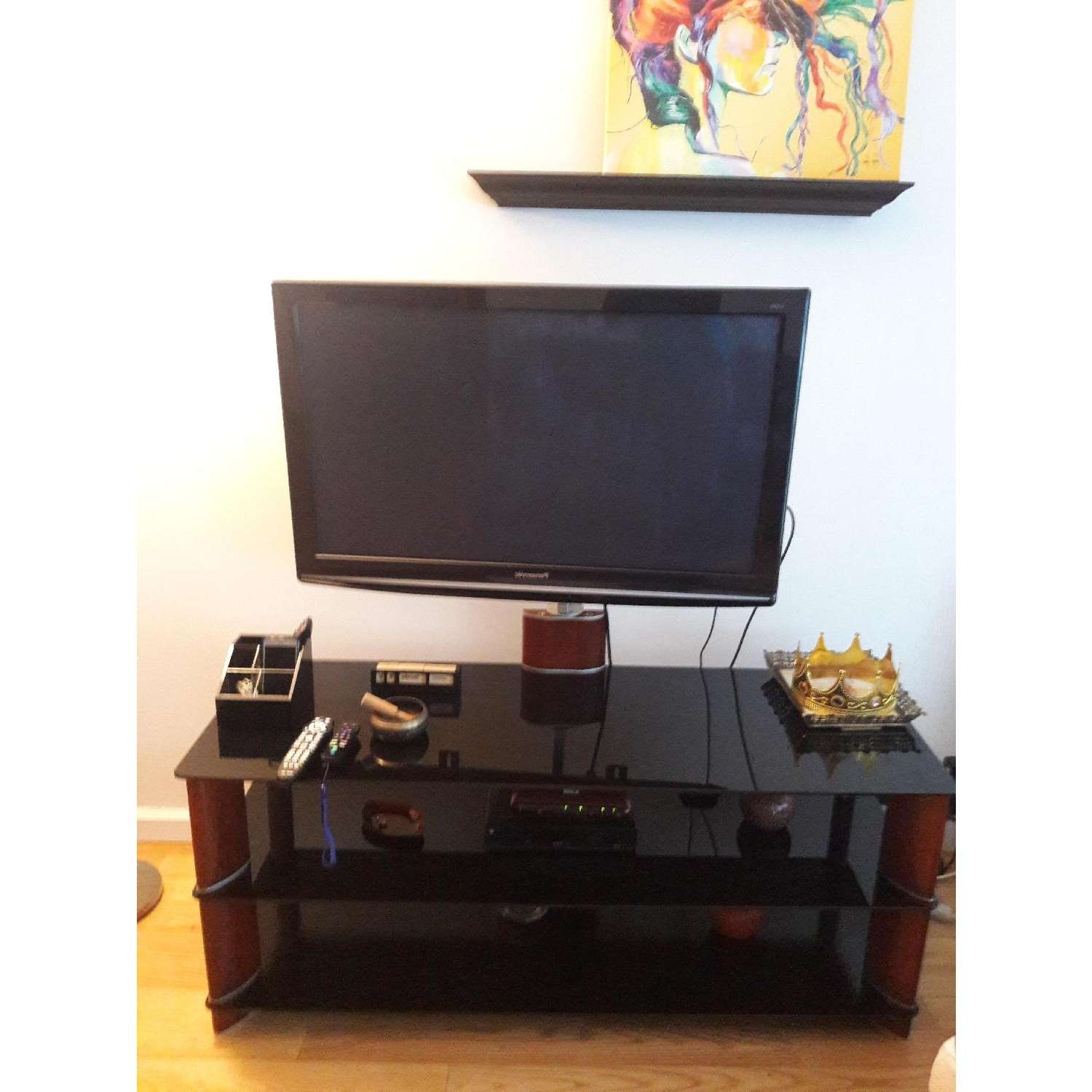 Amber & Black Tv Stand – Aptdeco With Funky Tv Stands (View 12 of 15)