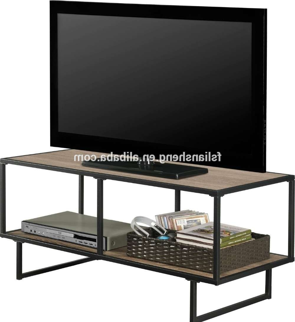 American Industrial Style Metal Frame Tv Stand/coffee Table For In Metal And Wood Tv Stands (View 10 of 15)