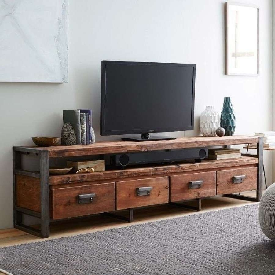 American Retro Loft Style Wrought Iron Wood Tv Cabinet Tv Cabinet Intended For Vintage Style Tv Cabinets (View 7 of 20)