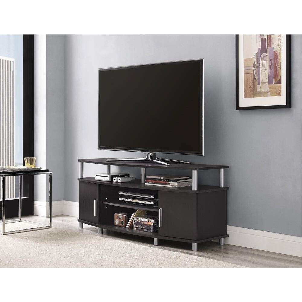 Ameriwood Carson Tv Stand In Espresso 1195096 – The Home Depot Inside Silver Tv Stands (View 2 of 15)
