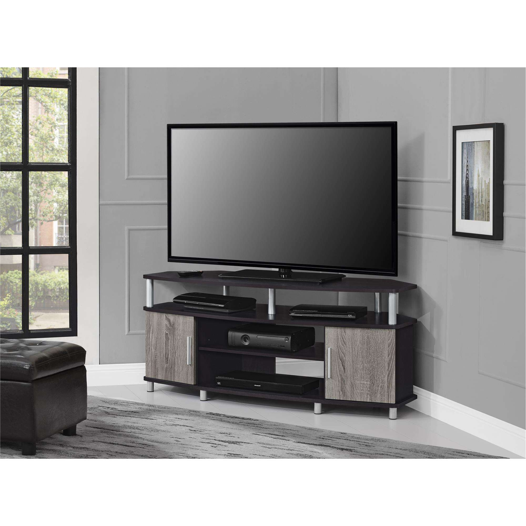 "Ameriwood Home Carson Corner Tv Stand For Tvs Up To 50"" Wide Intended For 50 Inch Corner Tv Cabinets (View 2 of 20)"