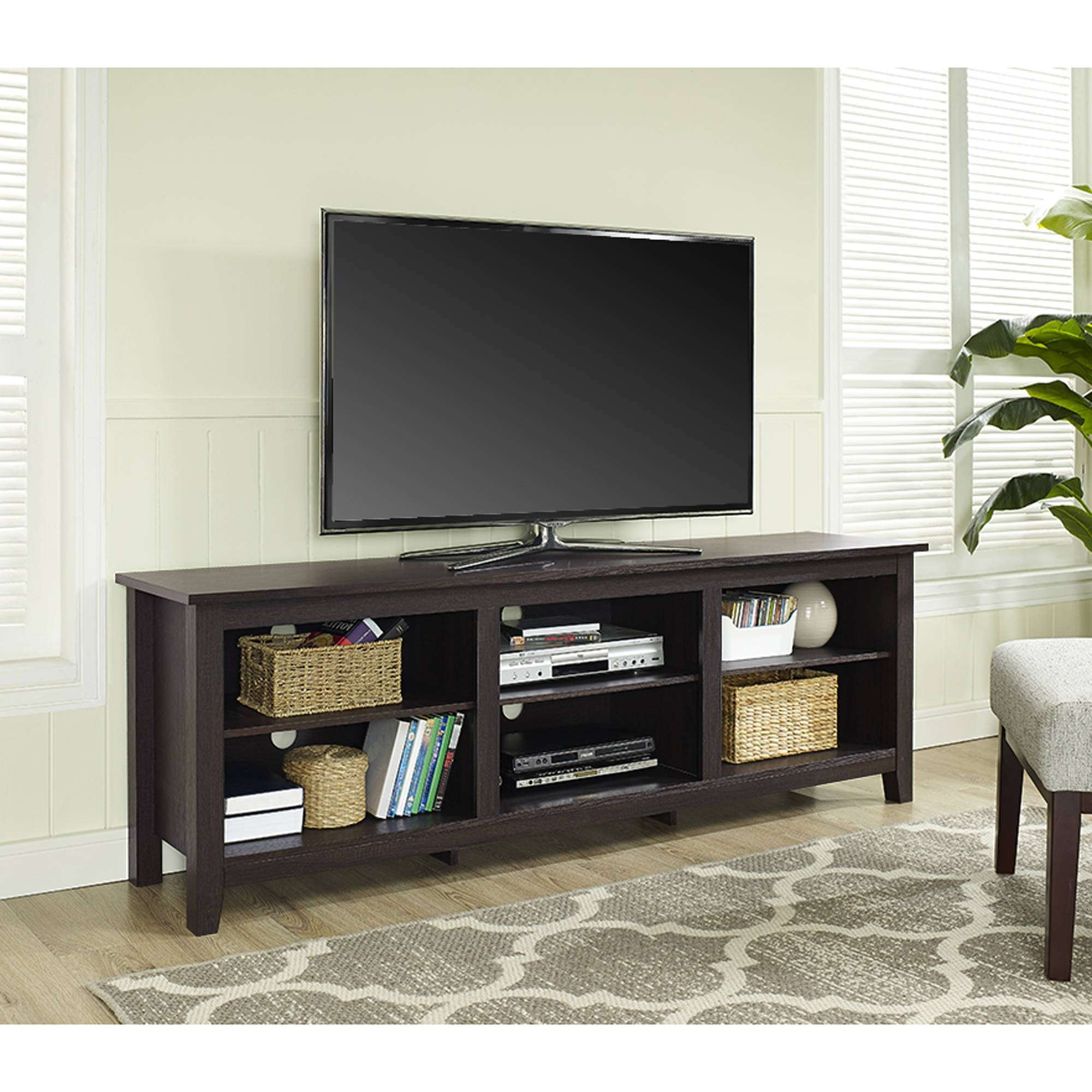 "Ameriwood Home Clark Tv Stand For Tvs Up To 70"", Espresso For Tv Stands For 70 Inch Tvs (View 2 of 15)"
