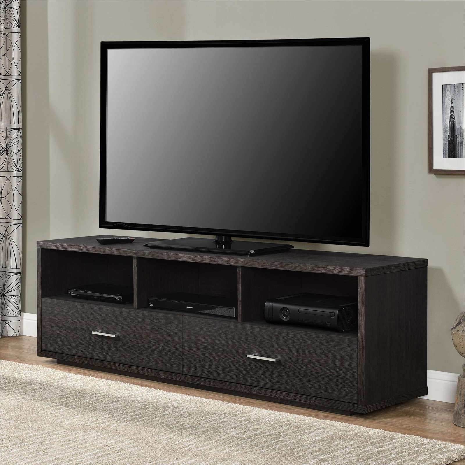"Ameriwood Home Clark Tv Stand For Tvs Up To 70"", Espresso Within Tv Stands For 70 Inch Tvs (View 3 of 15)"