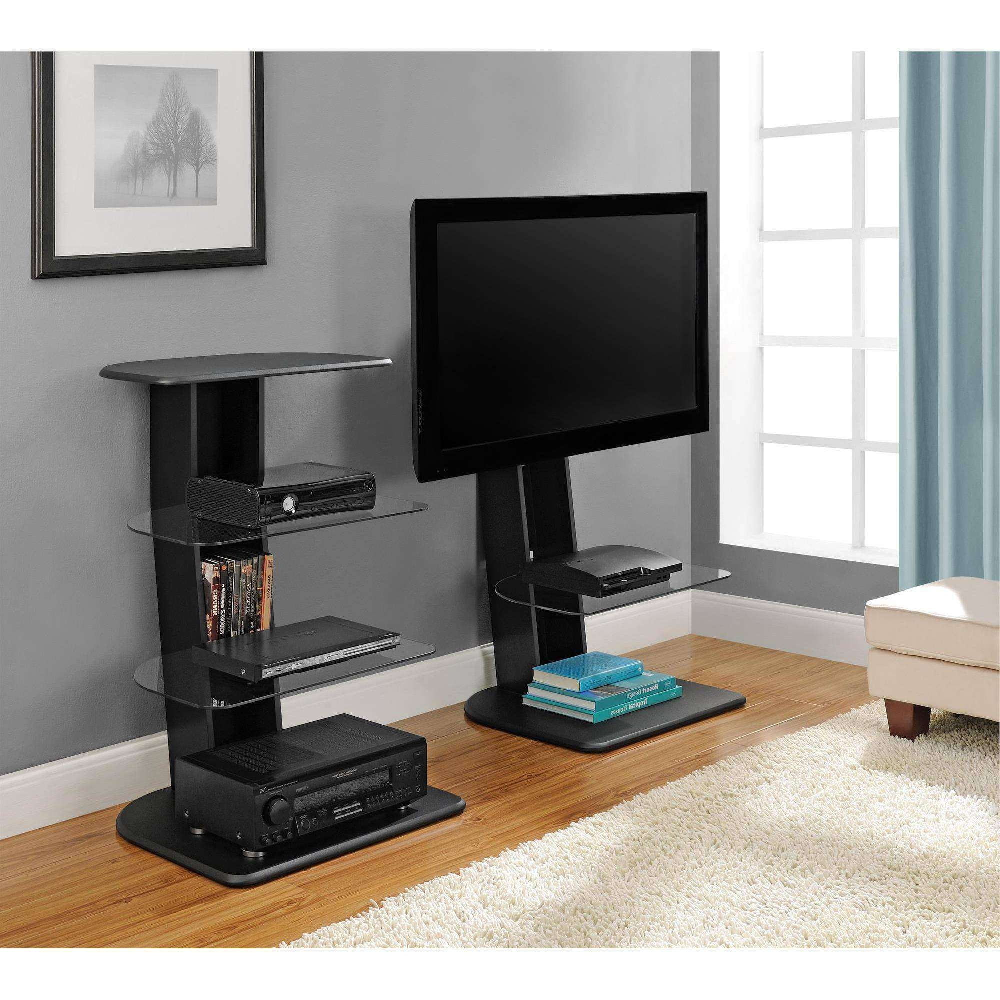 """Ameriwood Home Galaxy Tv Stand With Mount For Tvs Up To 50"""", Black Throughout Sleek Tv Stands (View 15 of 15)"""