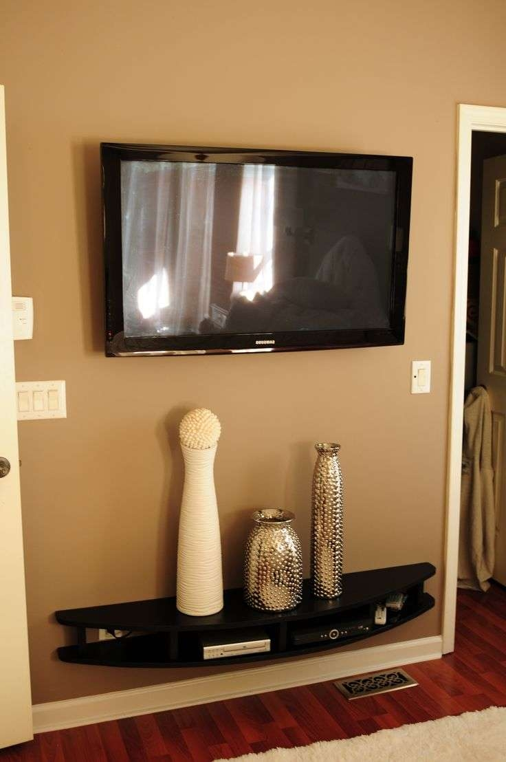 Amusing Shelf Idea Tv Wall And Hubby Built Shelves To Wall Mount Throughout Wall Mounted Tv Stands With Shelves (View 4 of 15)