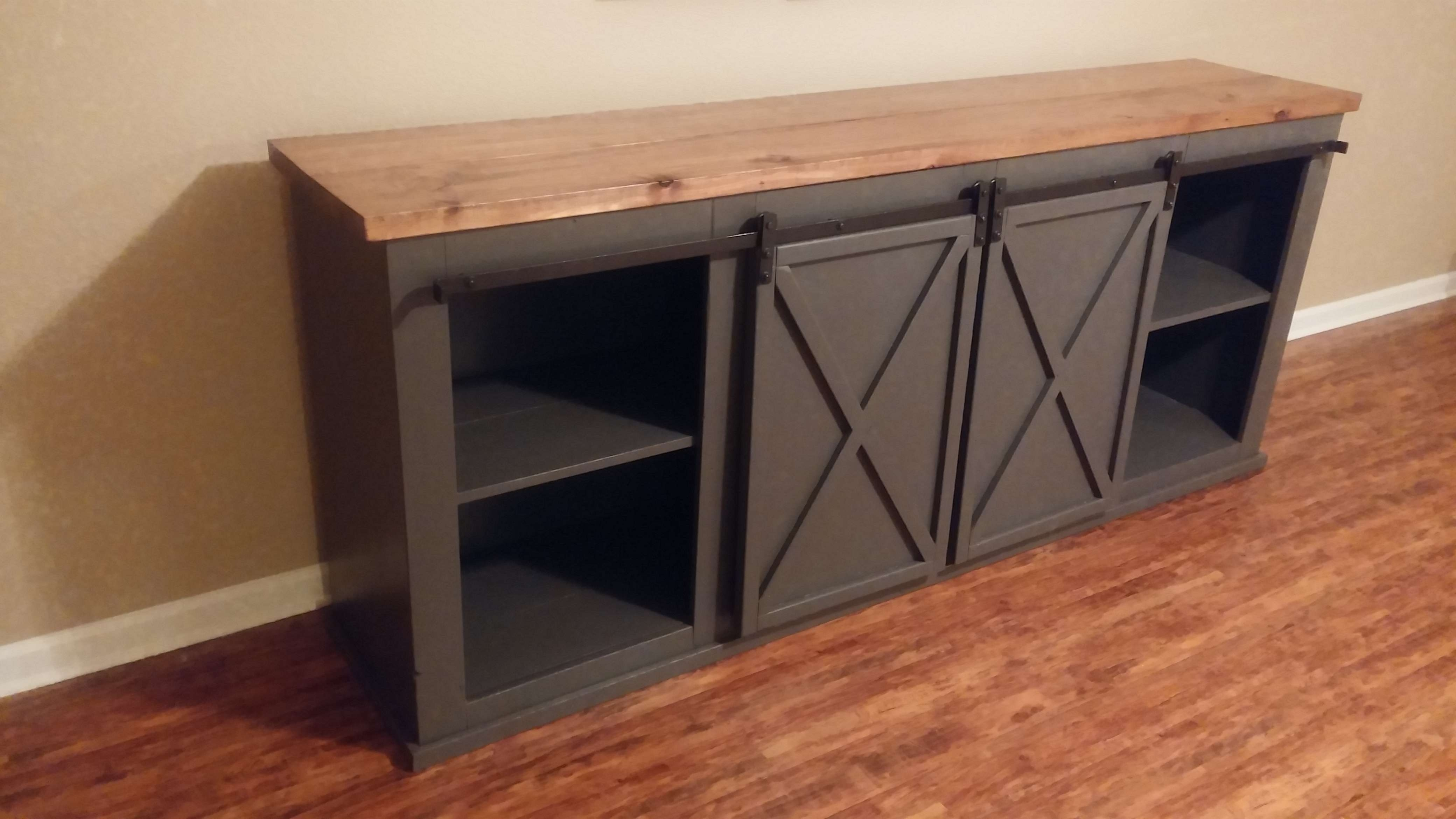 Ana White | Grandy Tv Stand – Diy Projects For Country Style Tv Stands (View 2 of 15)