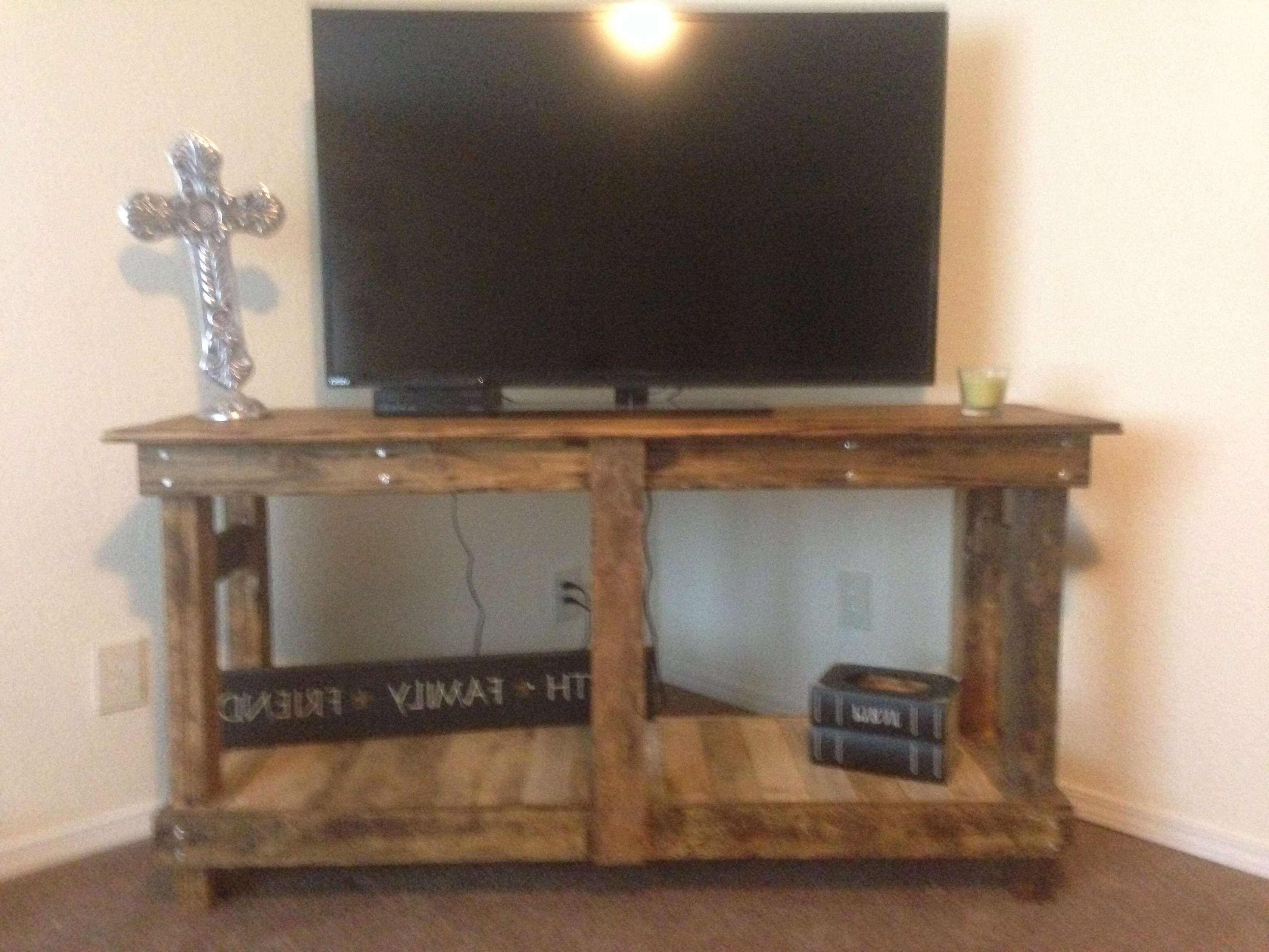 Ana White | Rustic Tv Stand – Diy Projects Intended For White Rustic Tv Stands (View 2 of 15)