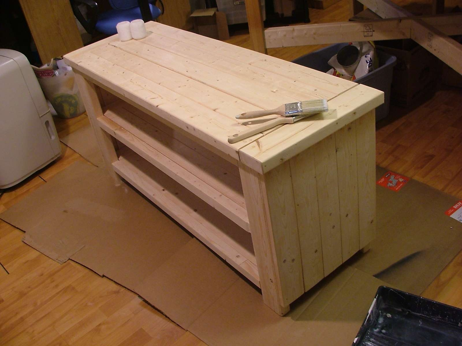 Ana White | Tv Stand – Diy Projects Intended For Rustic White Tv Stands (View 3 of 15)