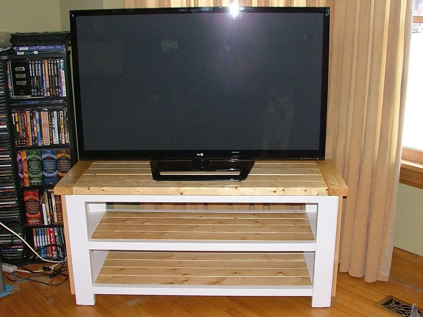 Ana White | Tv Stand – Diy Projects With Rustic White Tv Stands (View 4 of 20)