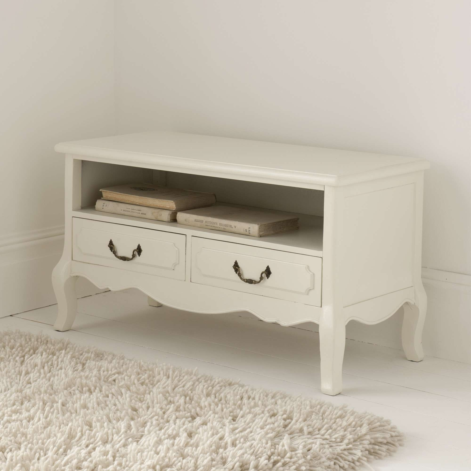 Antique French Tv Stand | Antique White Furniture Range With Antique Style Tv Stands (View 3 of 15)