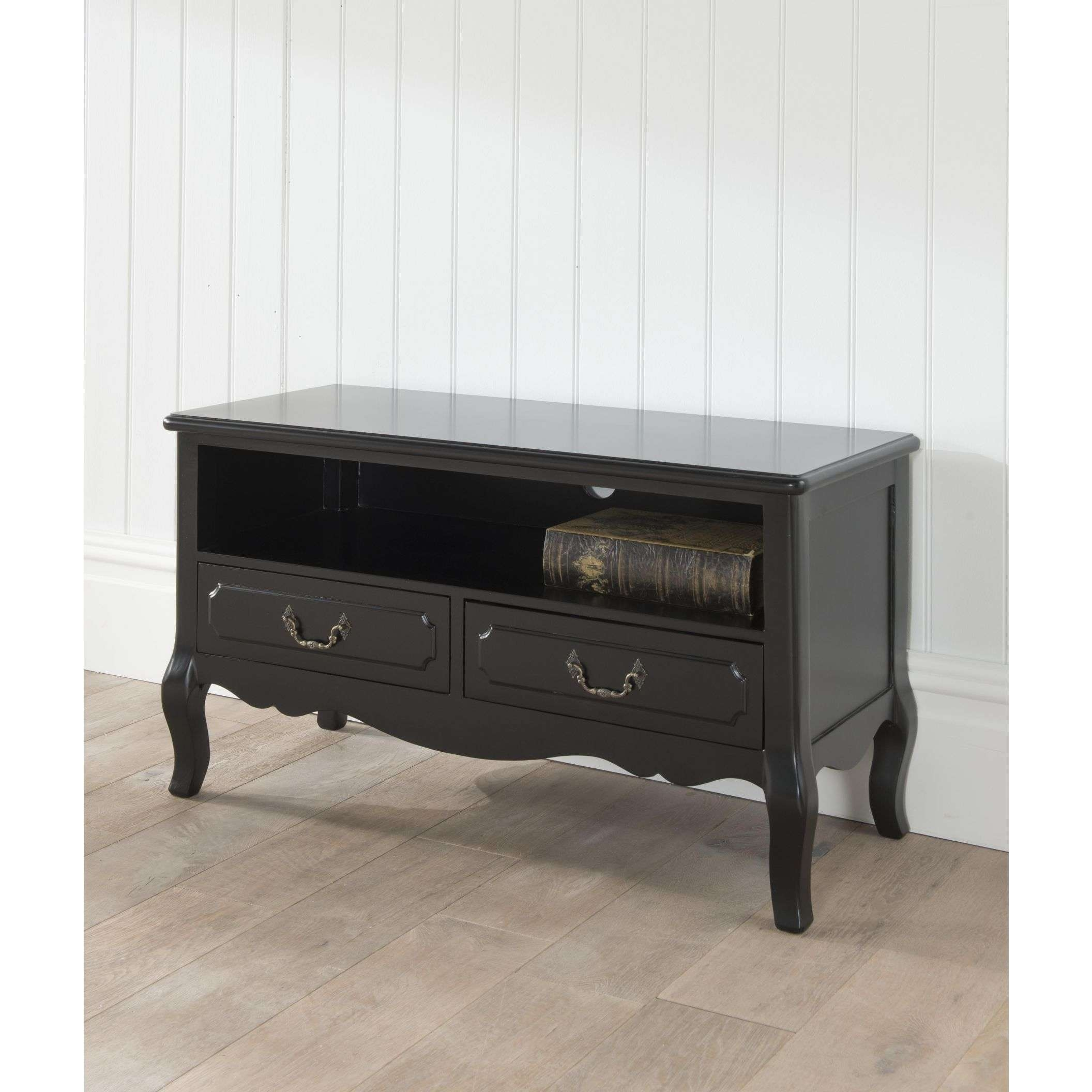 Antique French Tv Stand | Black French Style Furniture Regarding Vintage Style Tv Cabinets (View 9 of 20)