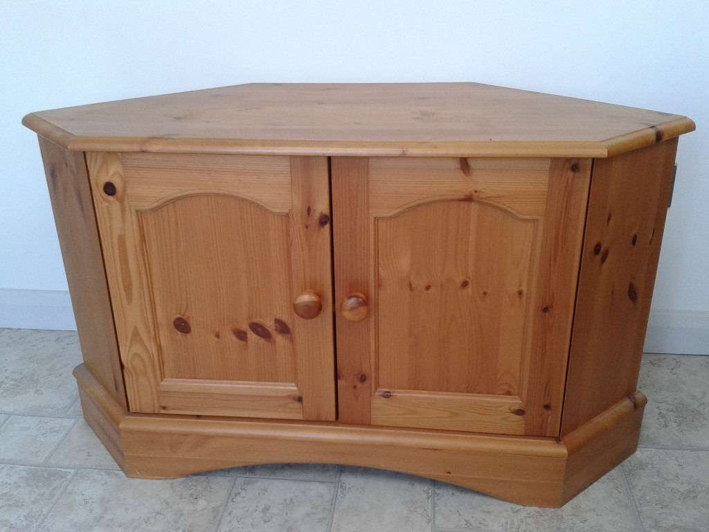 Antique Pine Corner Tv Cabinet/stand | In Wirksworth, Derbyshire Pertaining To Pine Corner Tv Stands (View 3 of 15)