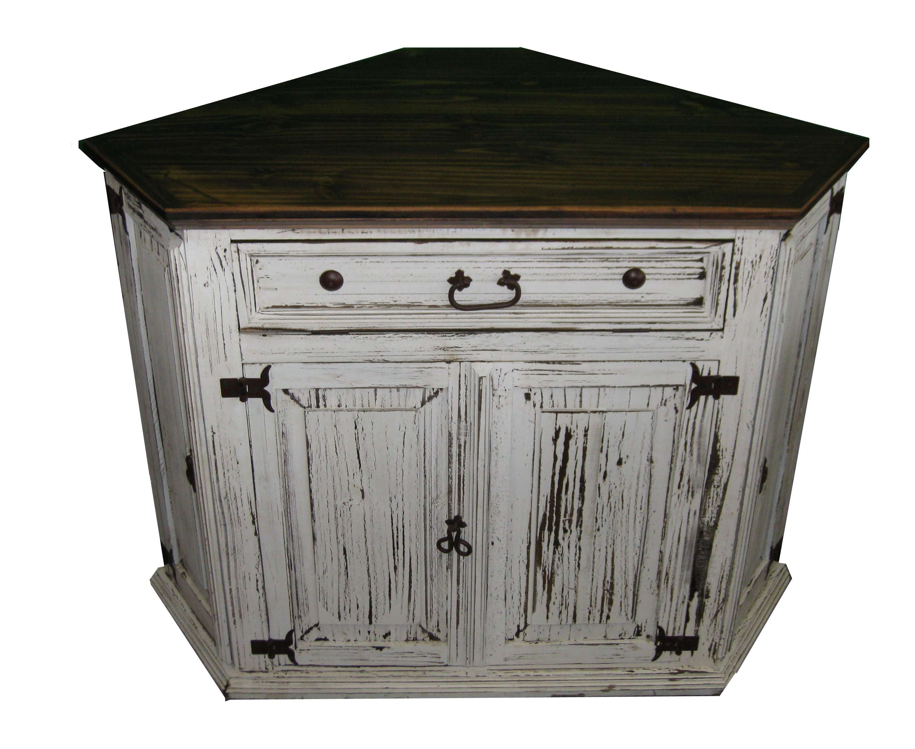 Antique White Corner Tv Stand Texas Rustic Wholesale Pine Regarding Pine Corner Tv Stands (View 14 of 15)