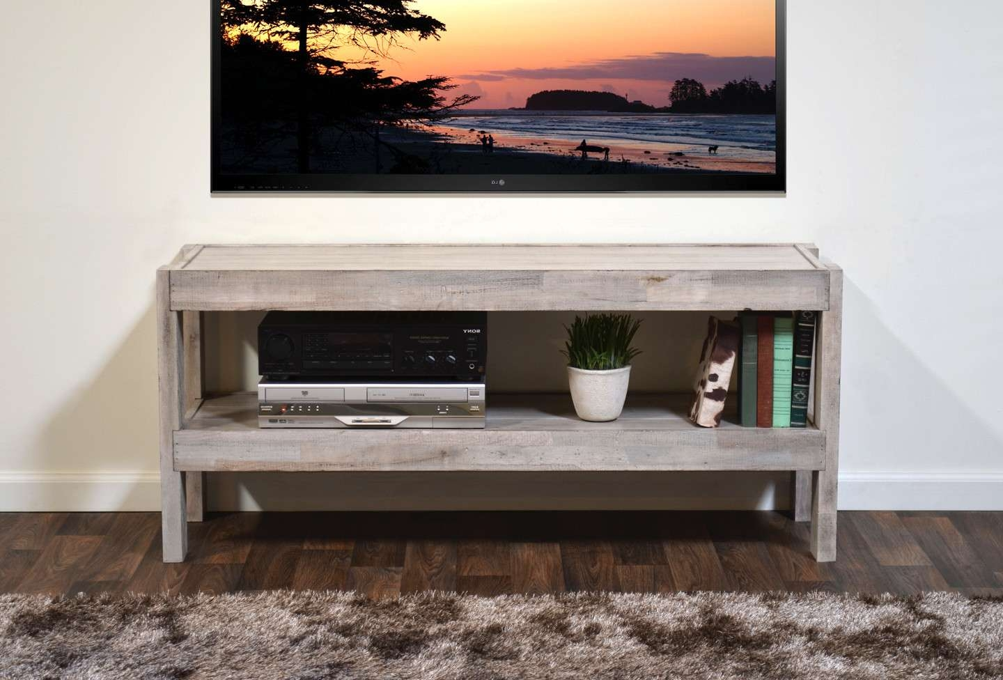 Antique White Tv Console Furnitures Stunning Distressednd Within White Rustic Tv Stands (View 4 of 15)