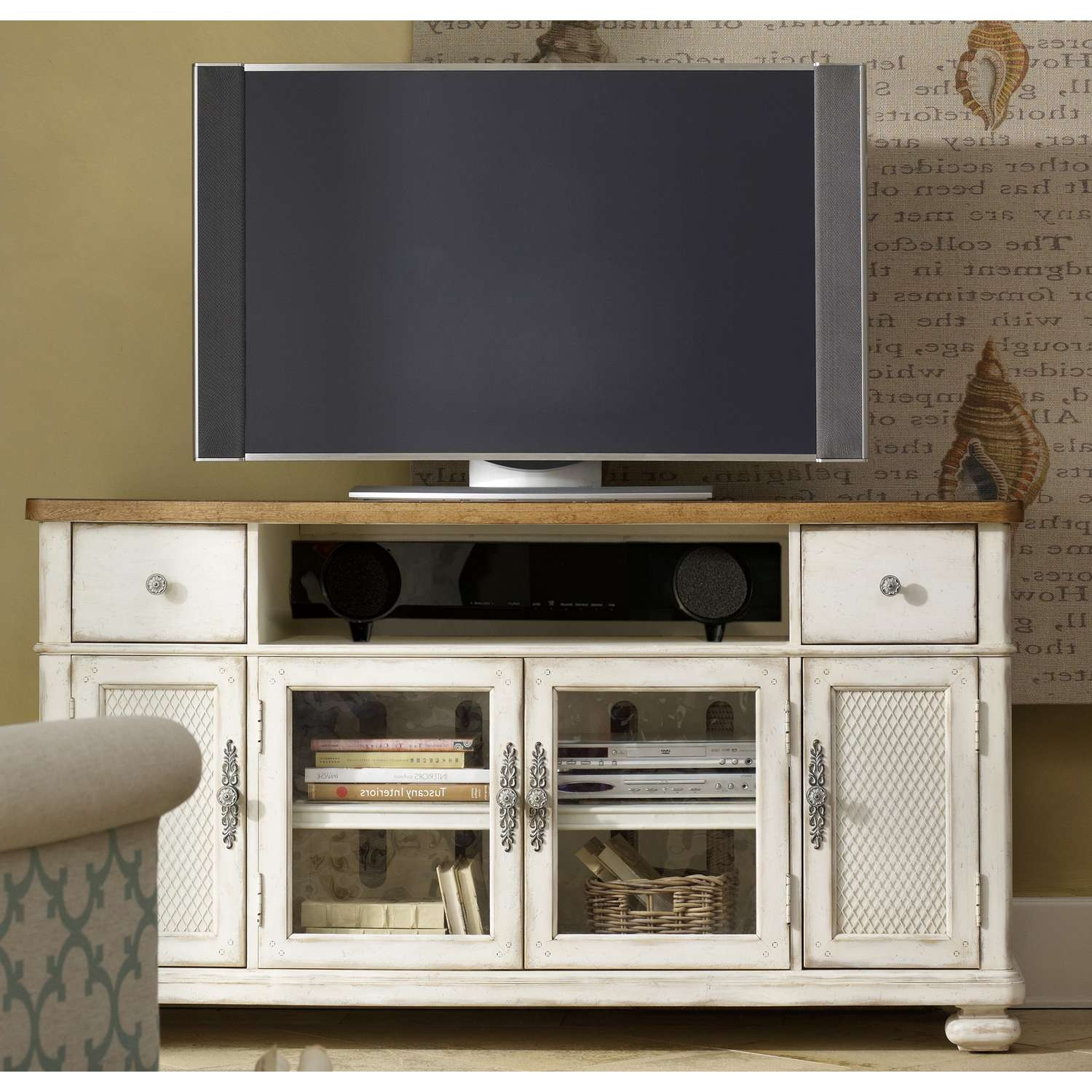 Antique White Tv Stand (View 16 of 20)