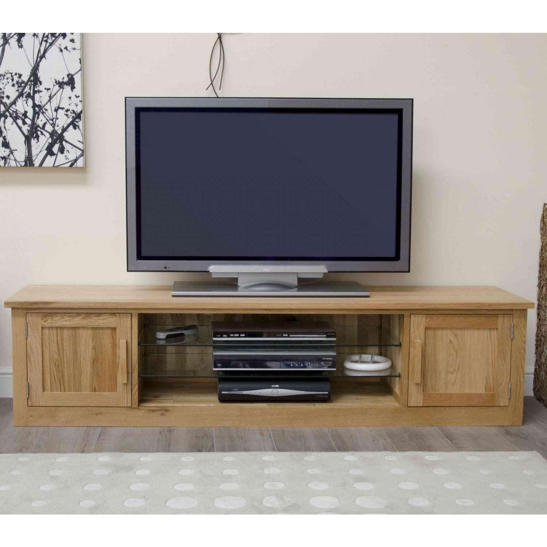 Arden Solid Oak Living Room Furniture Large Widescreen Tv Cabinet Inside Tv Stands In Oak (View 1 of 15)