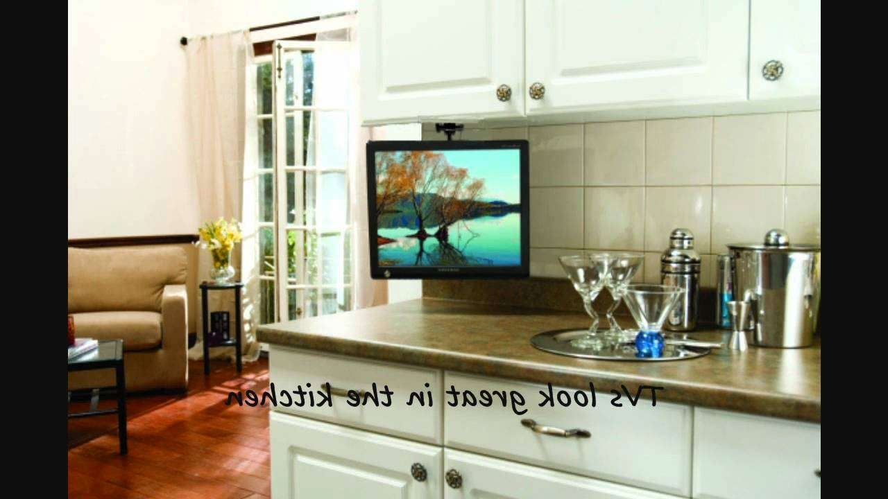 Arrowmounts Flip Down Ceiling Or Under Cabinet Mount For Lcd Tv's Regarding Under Tv Cabinets (View 10 of 20)