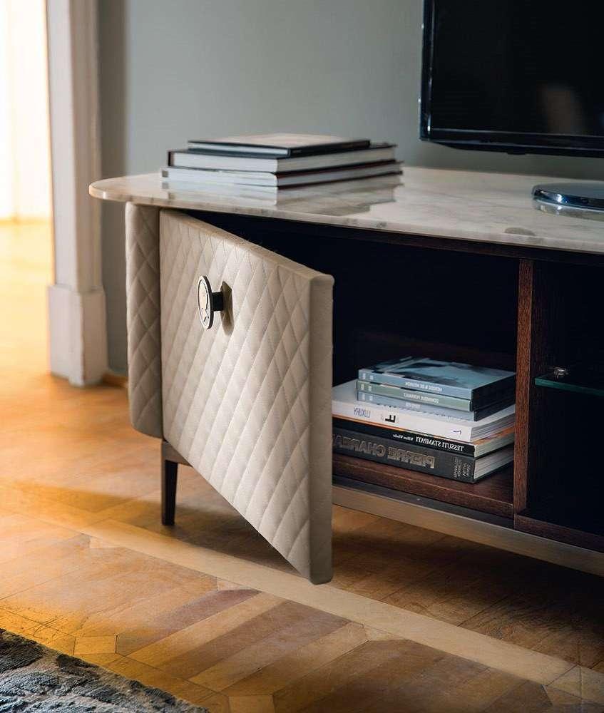 Art Deco Style Tv Cabinet / Wooden / Leather – Penelope Regarding Art Deco Tv Stands (View 3 of 20)